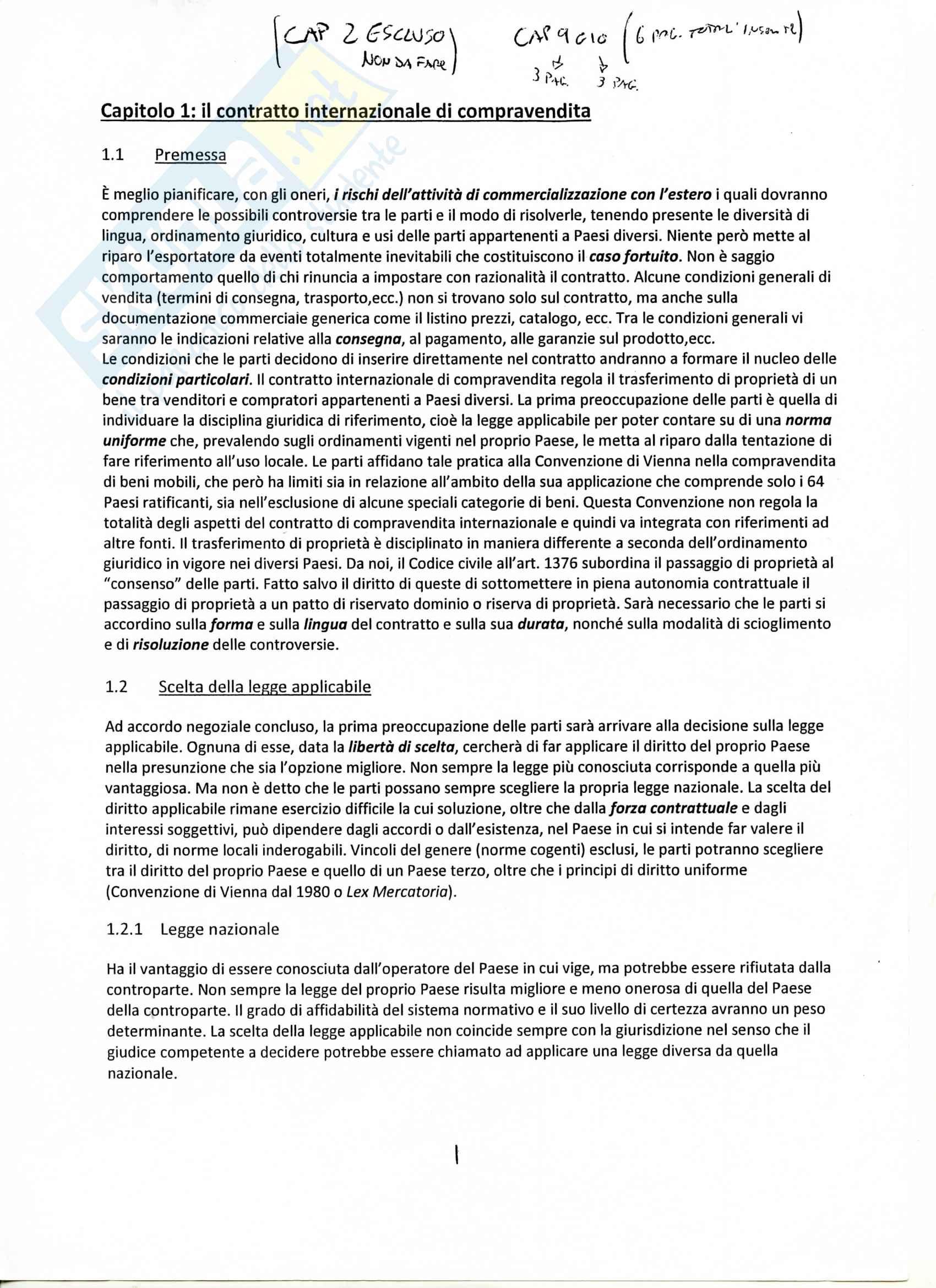 Riassunto esame Economia e tecnica degli scambi internazionali, prof. Ceraolo, libro consigliato Manuale del commercio internazionale, Di Meo