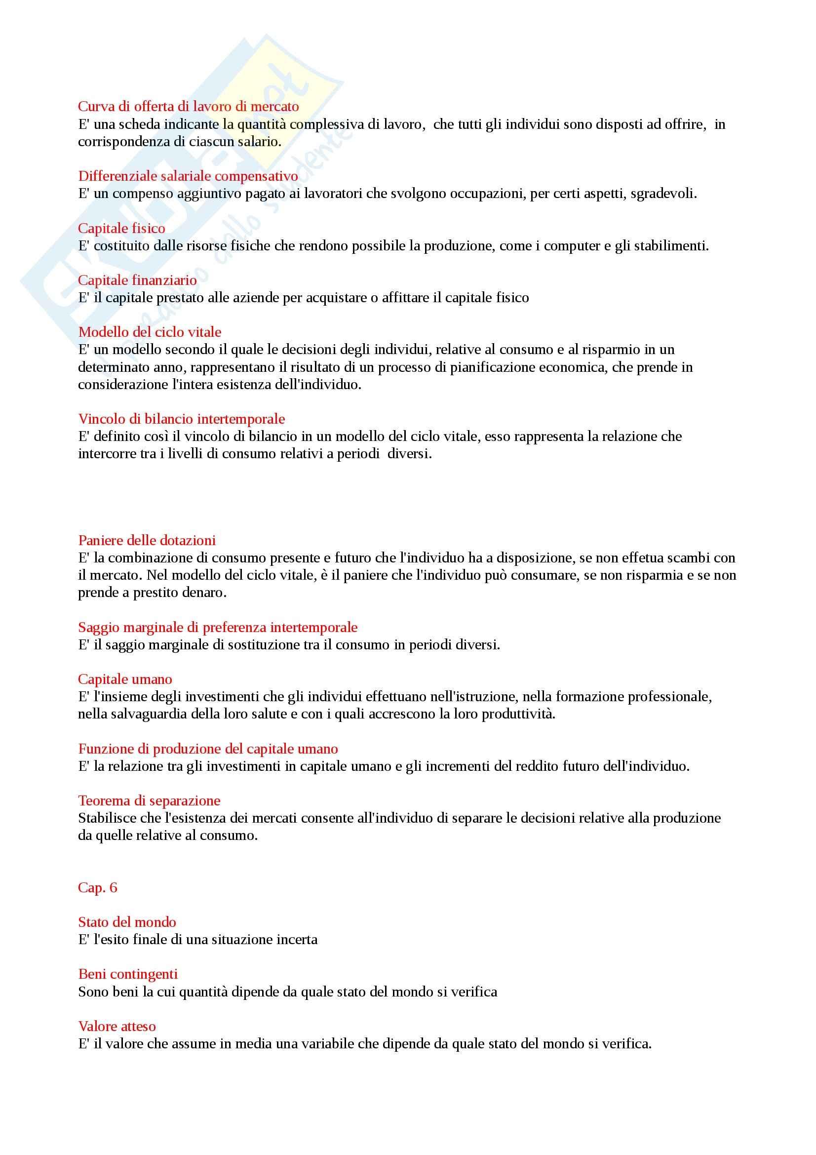 Riassunto esame Economia Politica: Microeconomia, prof. Beltrametti Pag. 6