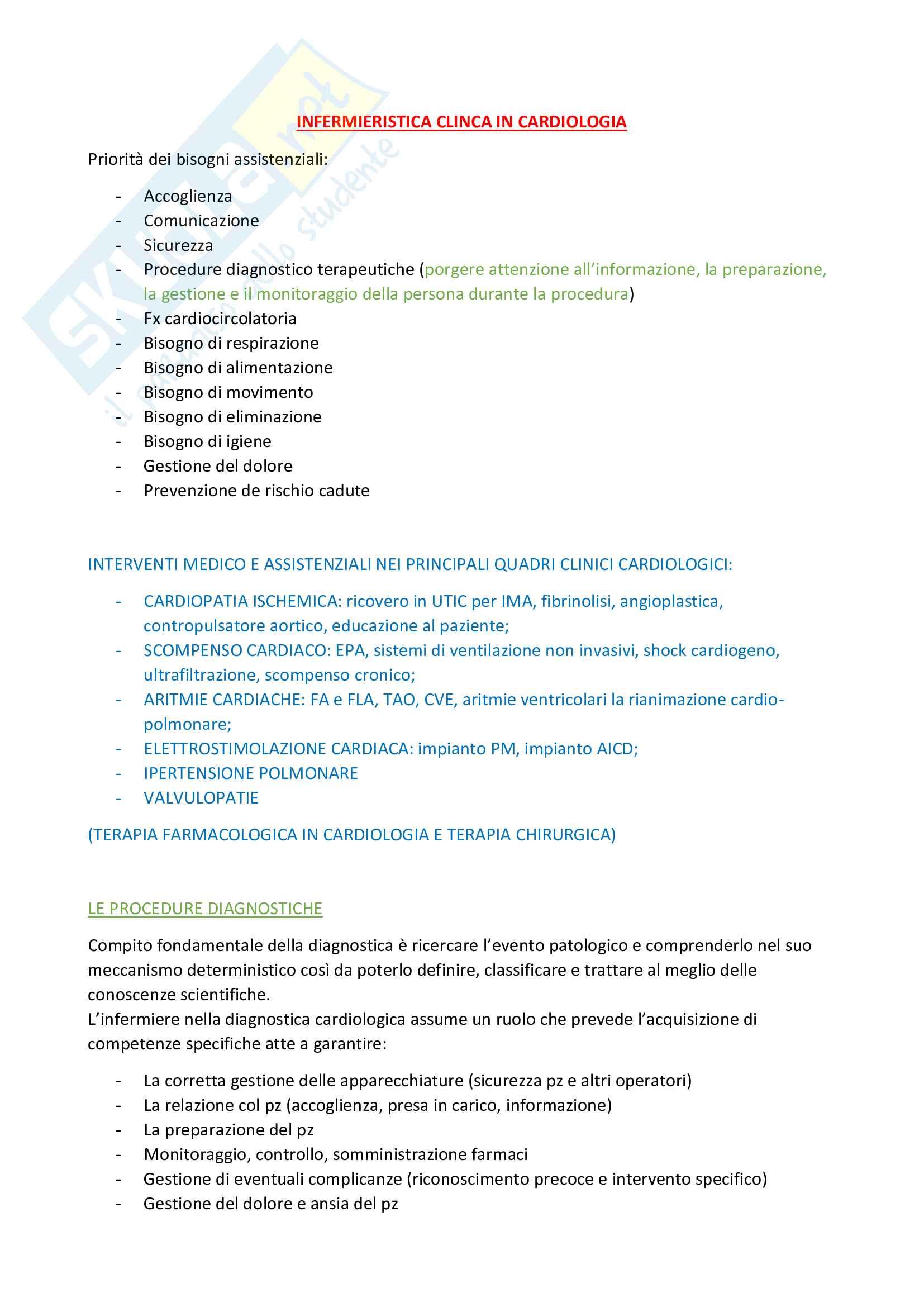Infermieristica clinica in cardiologia