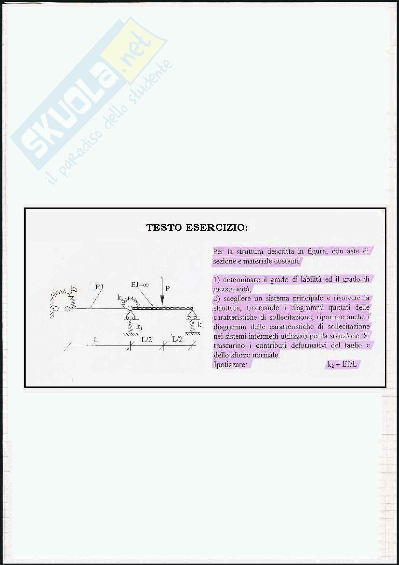Scienza delle costruzioni - Esercizi sul metodo di congruenza