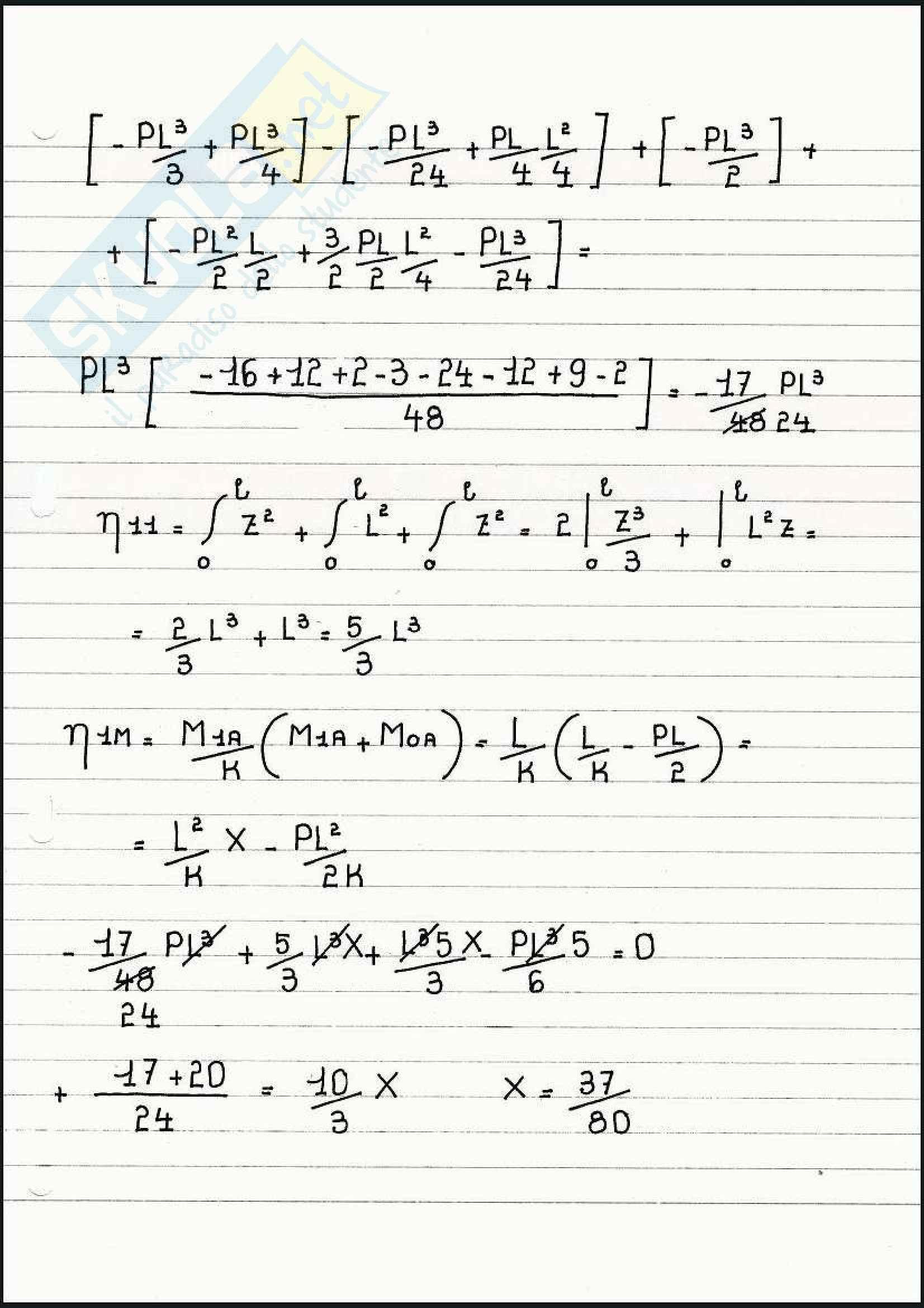 Scienza delle costruzioni - Esercizi sul metodo di congruenza Pag. 76
