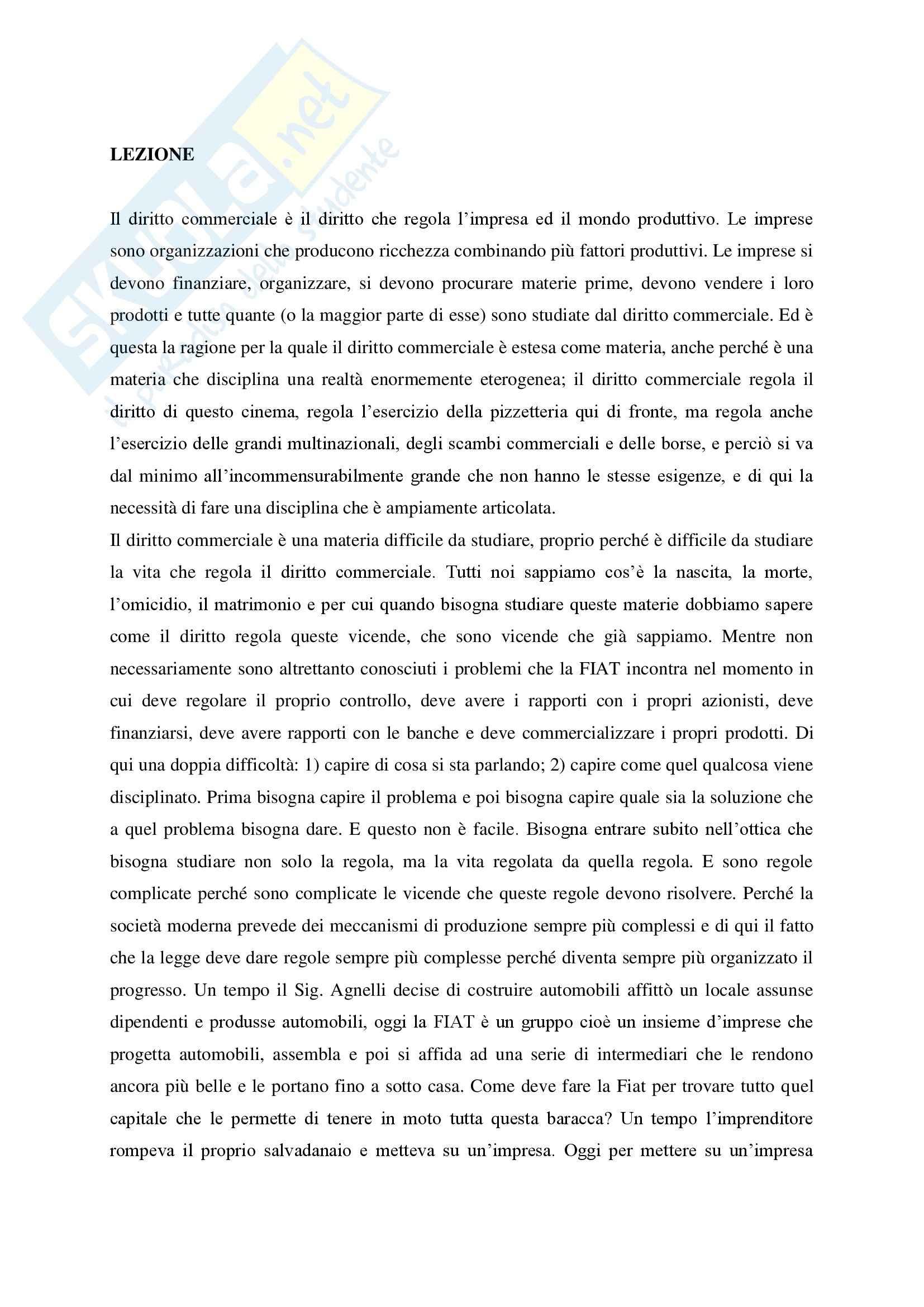 Diritto commerciale - Volume I - Campobasso - diritto dell'impresa