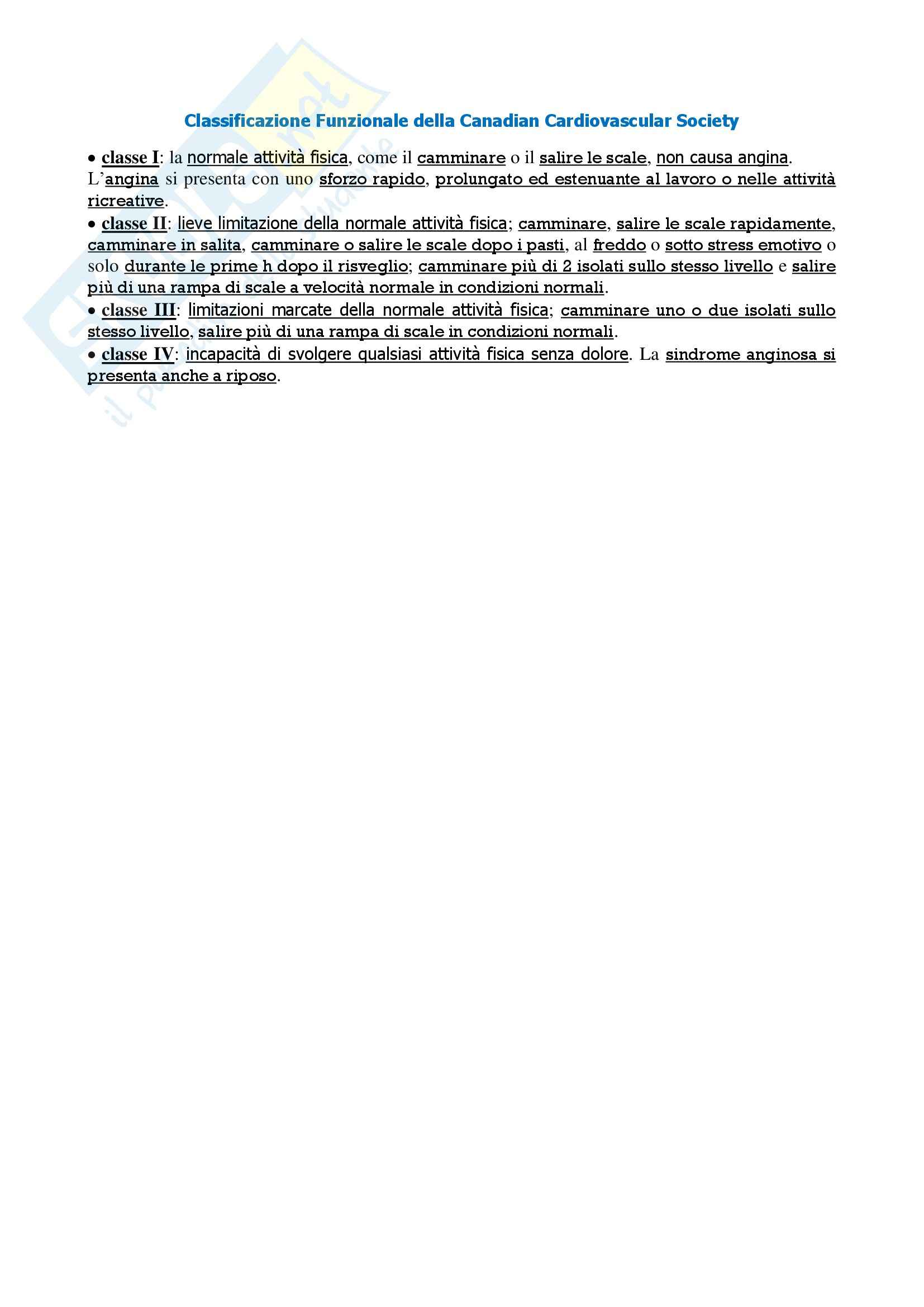 Malattie dell'apparato cardiovascolare - Appunti