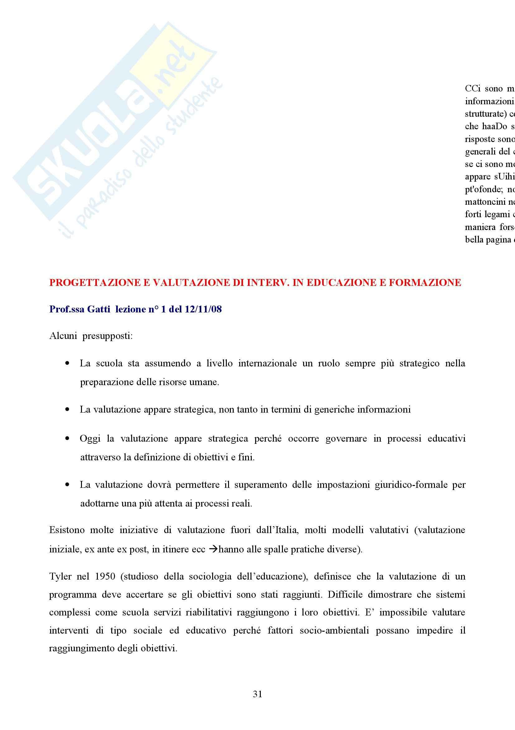 Progettazione e valutazione Pag. 31