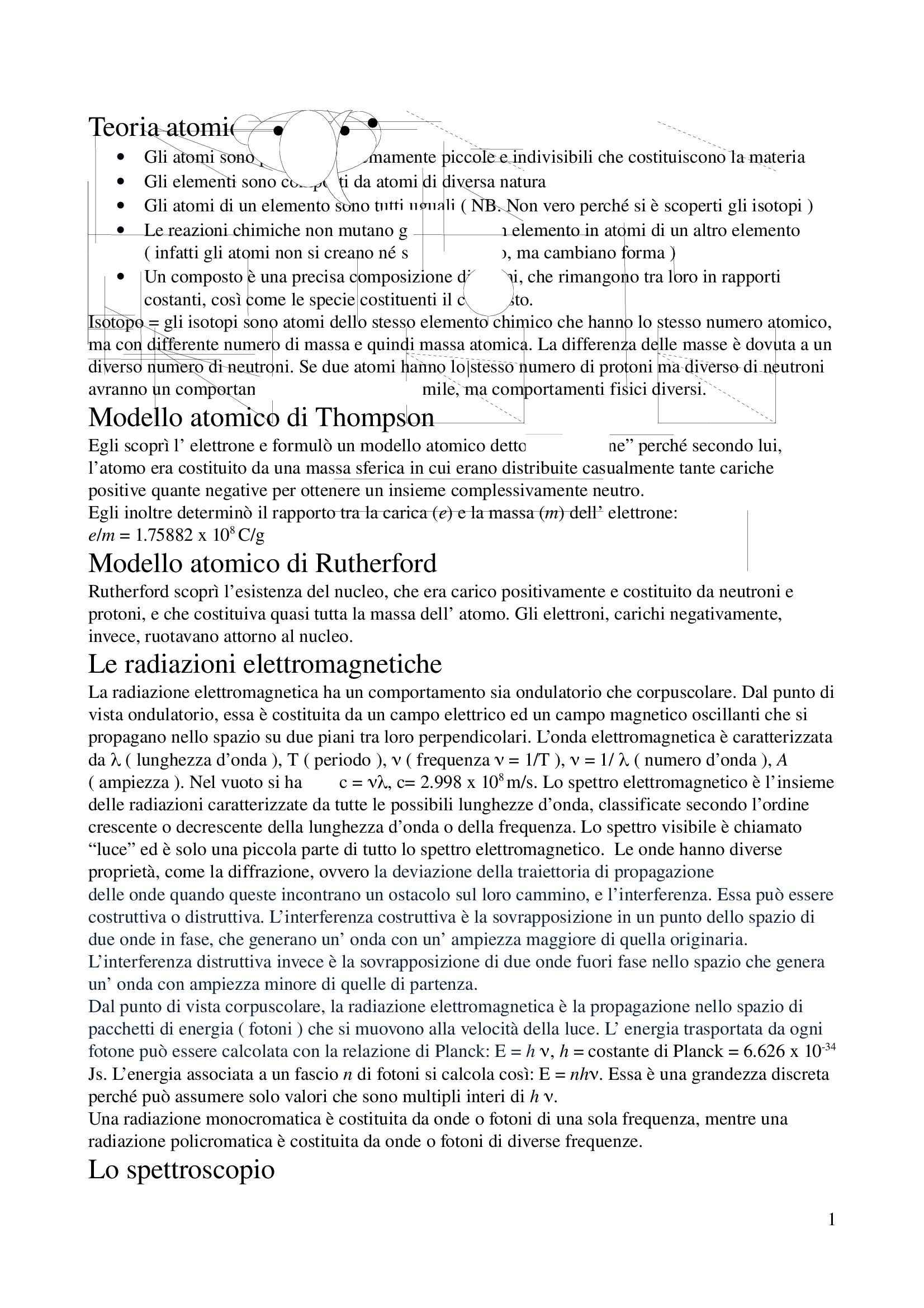 Chimica generale, inorganica e stechiometrica - Appunti
