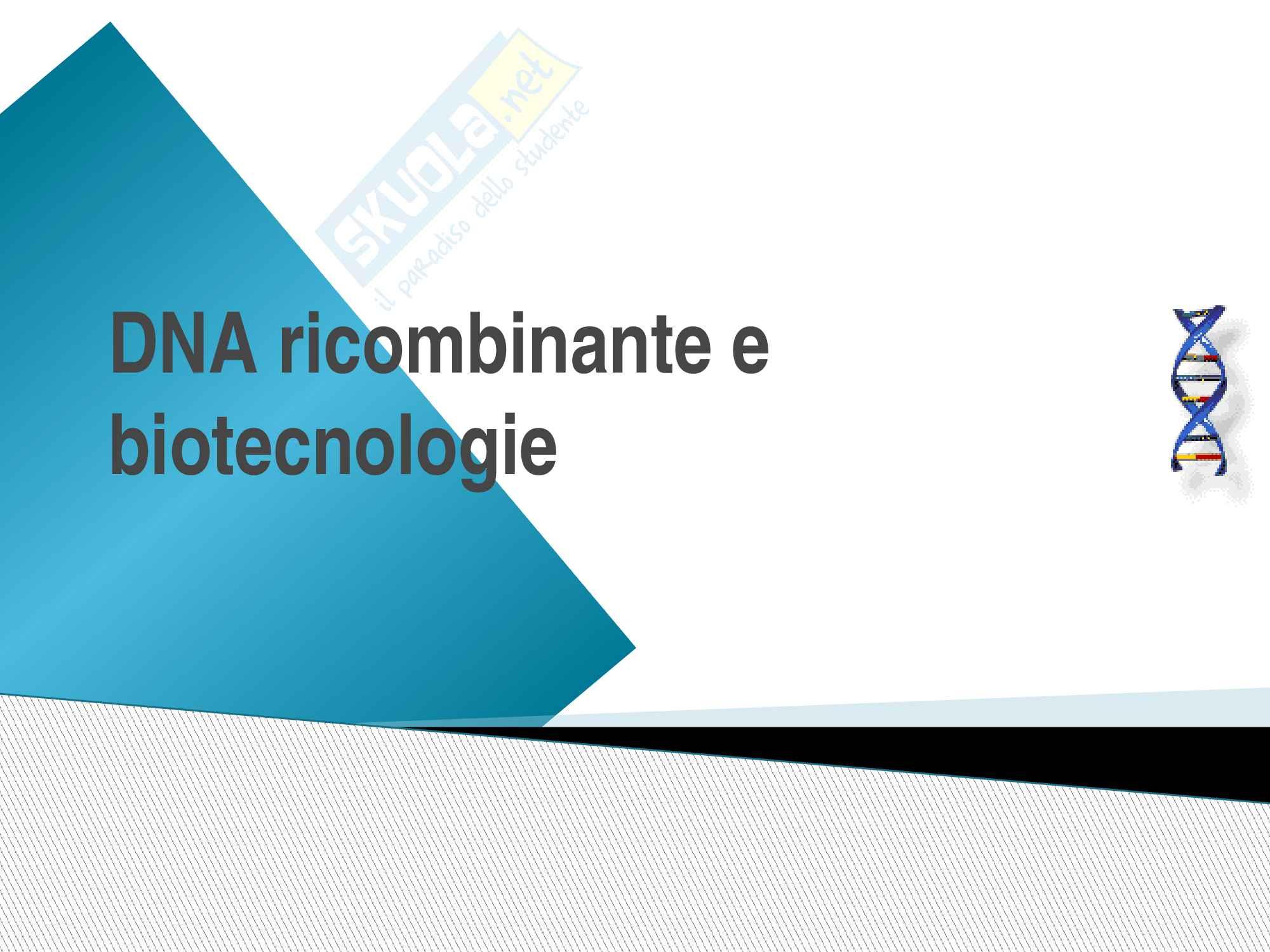 DNA ricombinante e biotecnologie