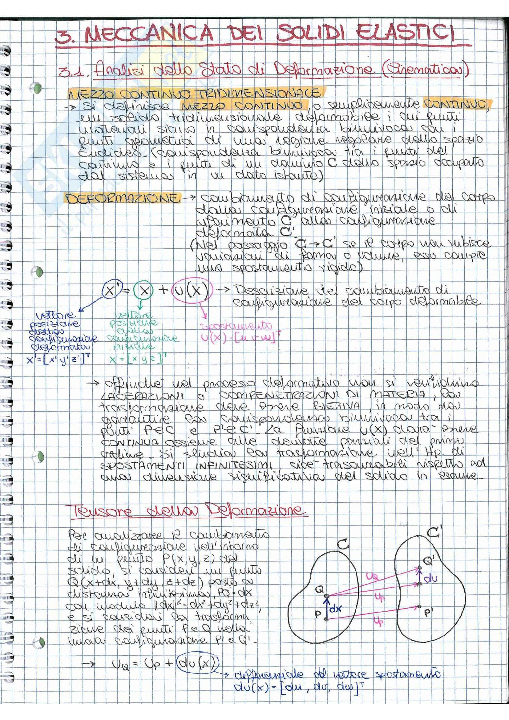 Riassunto esame Scienza delle costruzioni, prof. Vestroni, libro consigliato Rega, Vestroni: elementi di meccanica dei solidi