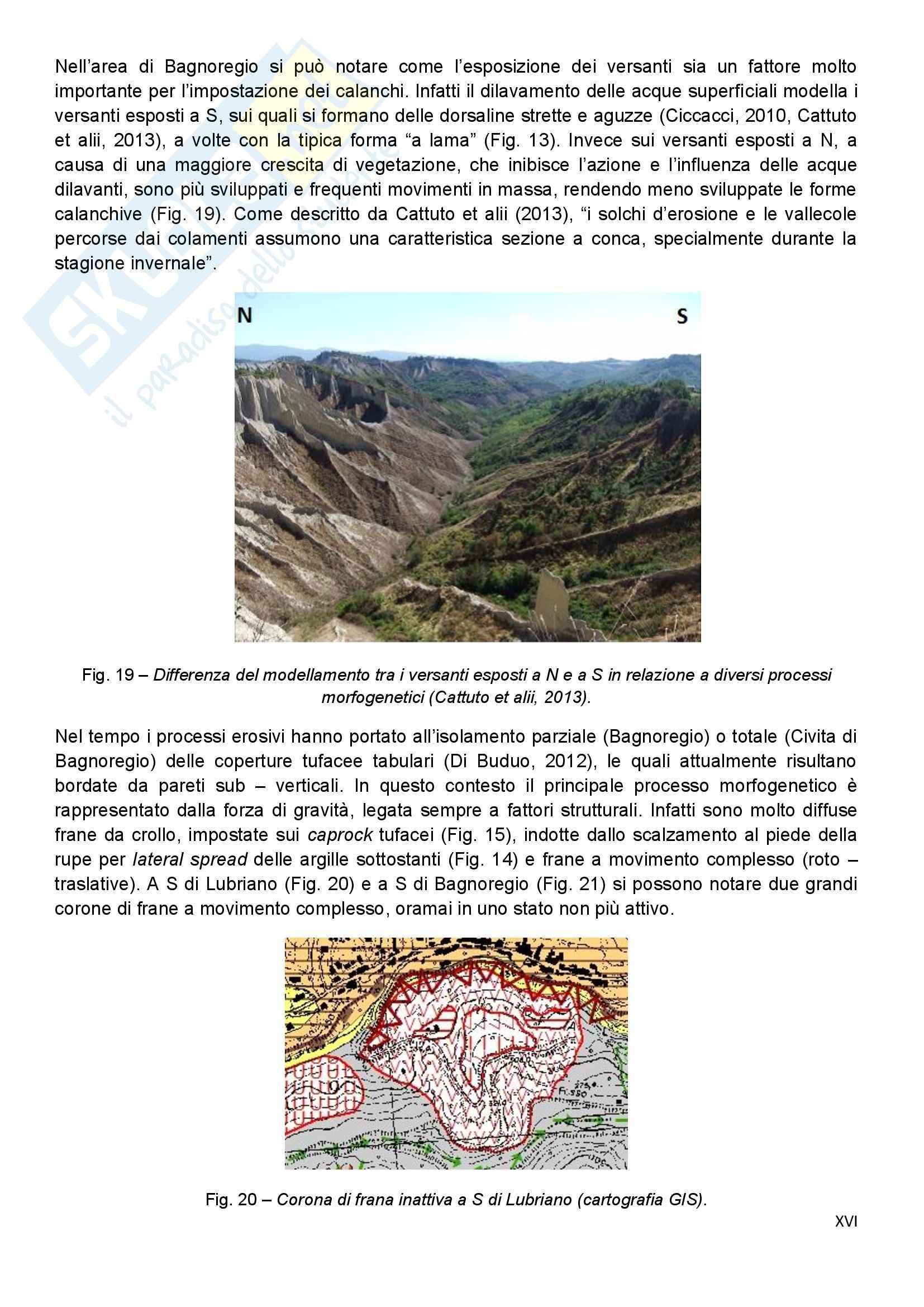 Gemorfologia , Relazione Civita di Bagnoregio (VT) - Tesi Pag. 16