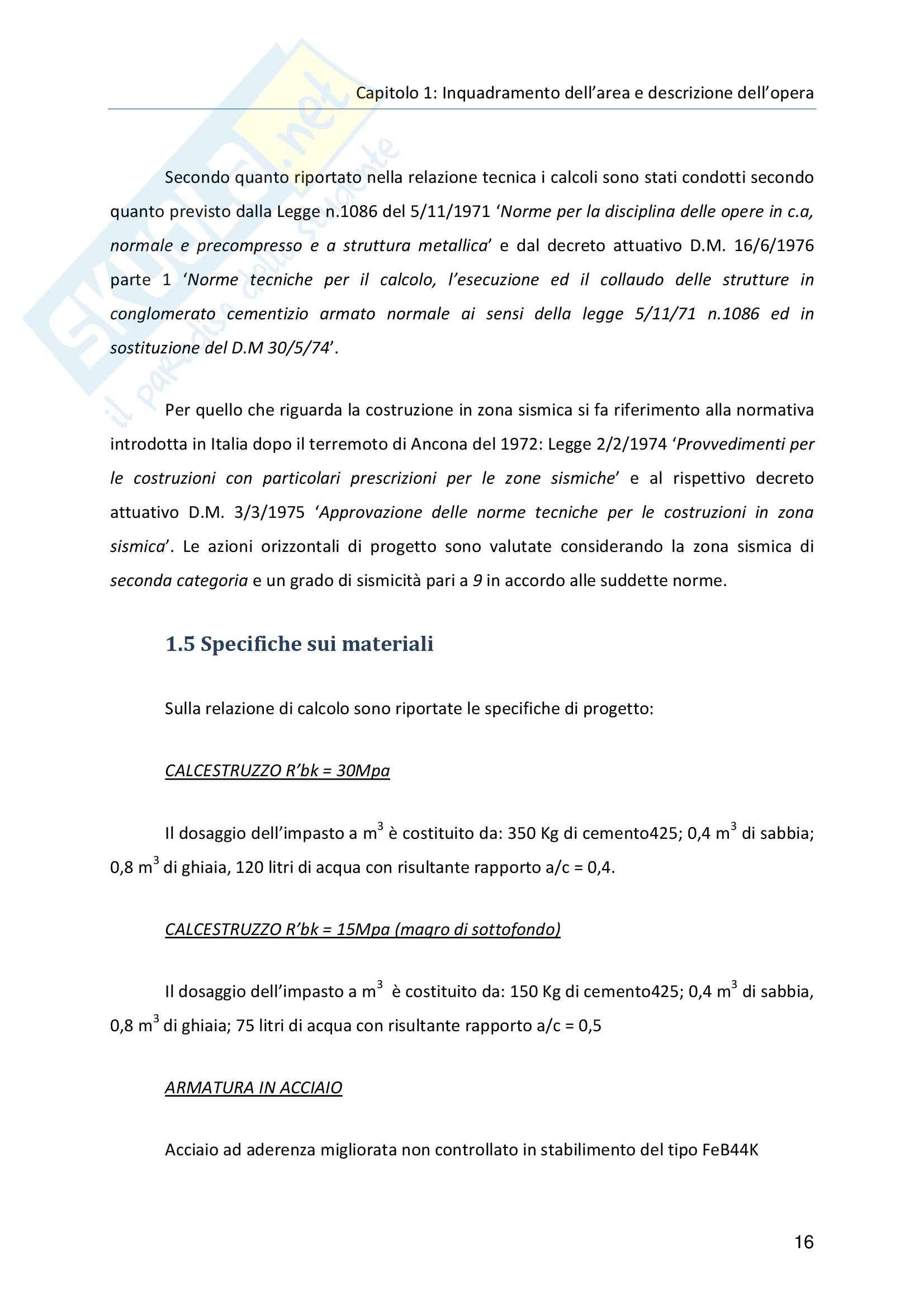 Tesi - Sopraelevazione di un complesso residenziale. Analisi strutturale e progetto Pag. 16