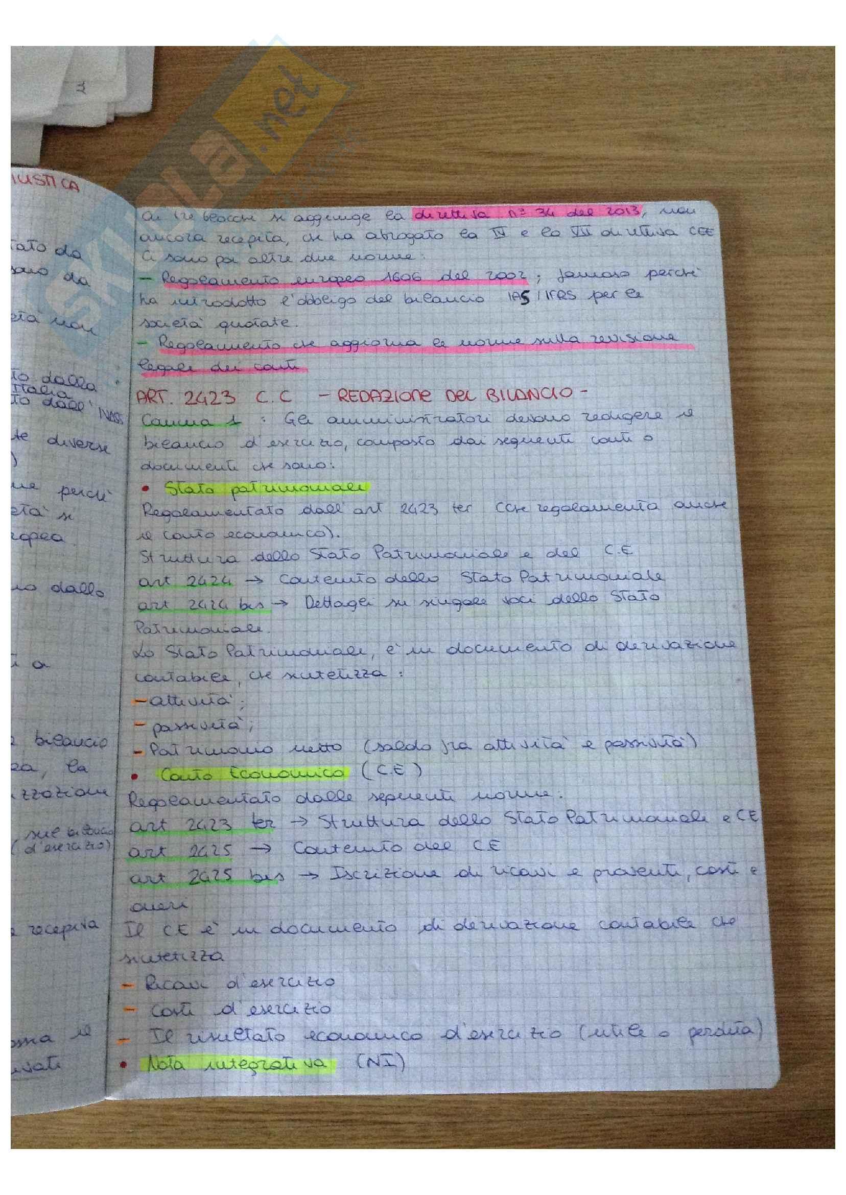 Bilancio Lezioni + Esercitazioni Pag. 31