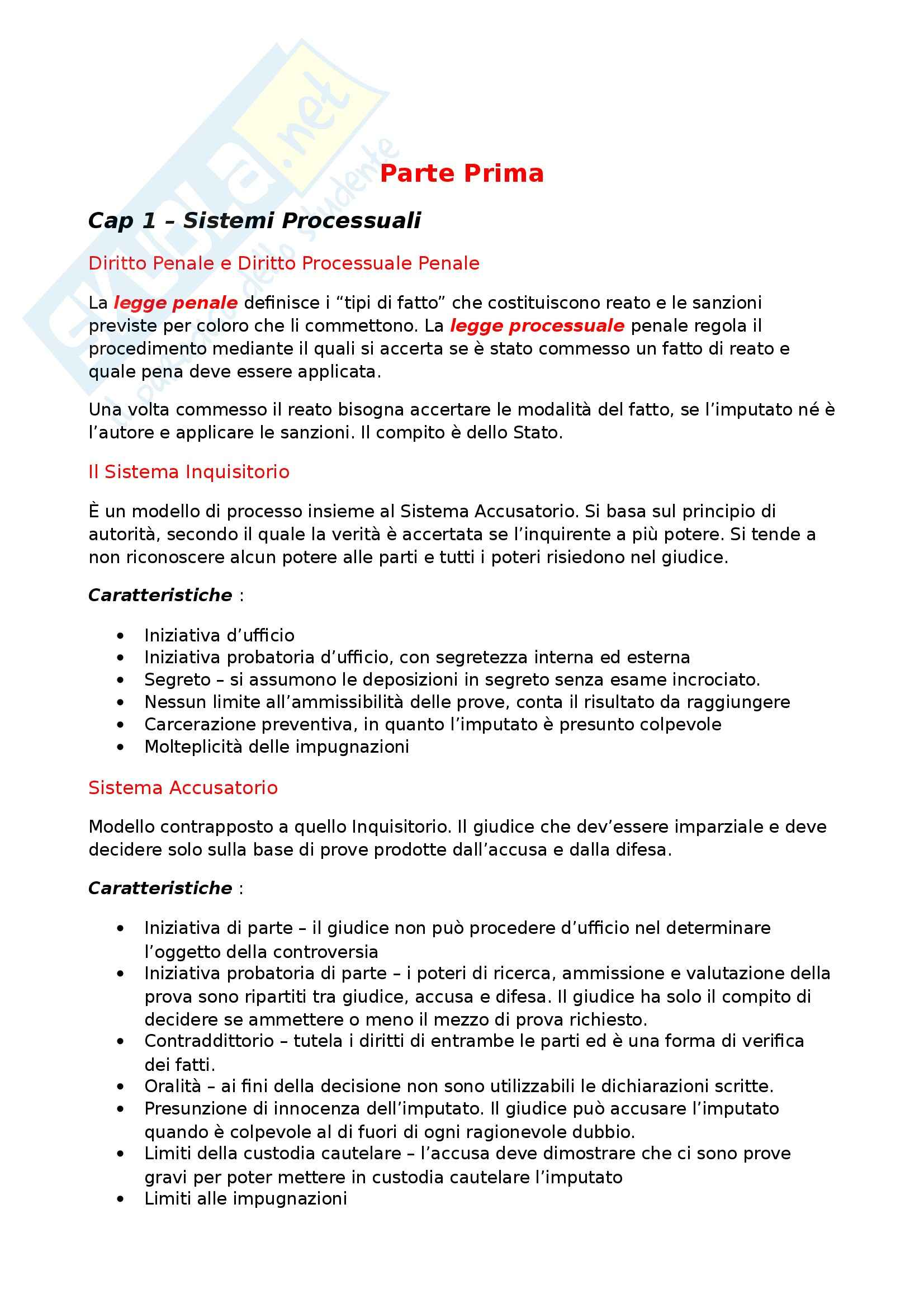 Riassunto esame Codice di Procedura Penale, libro adottato Codice di Procedura Penale, Tonini
