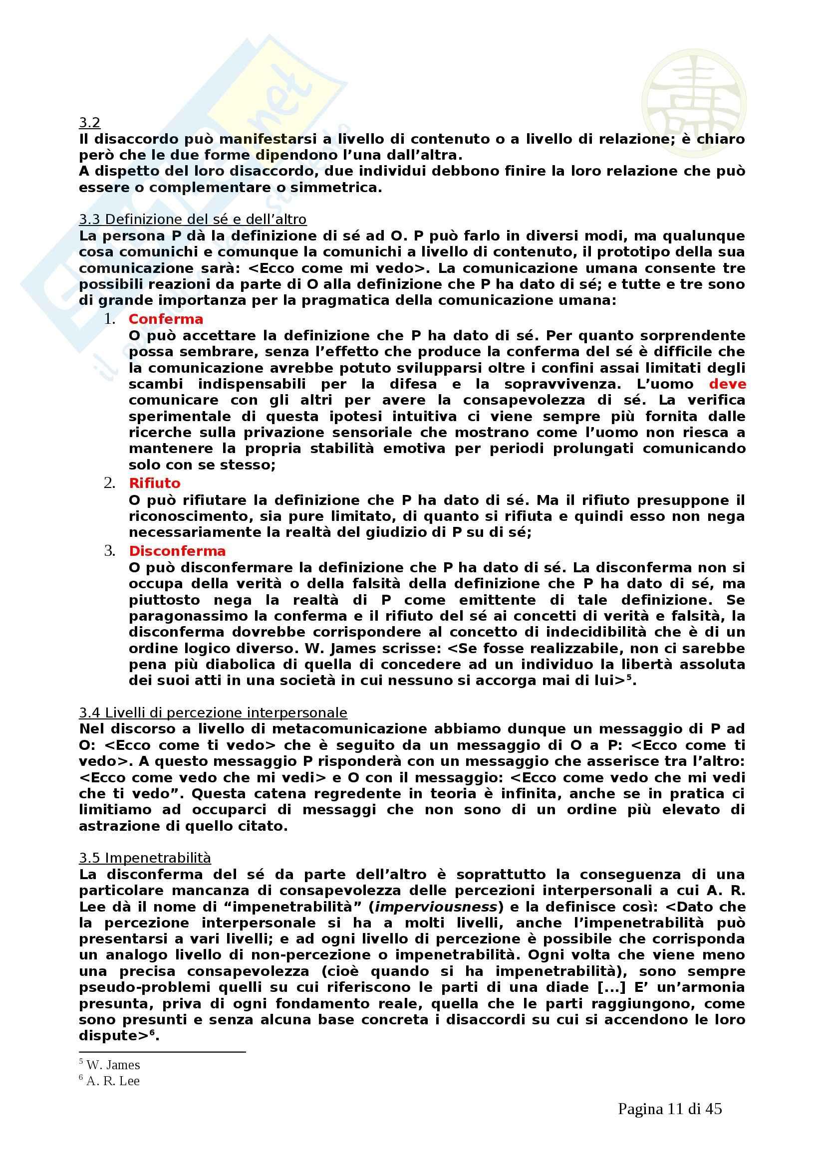 Psicologia - la pragmatica della comunicazione umana Pag. 11