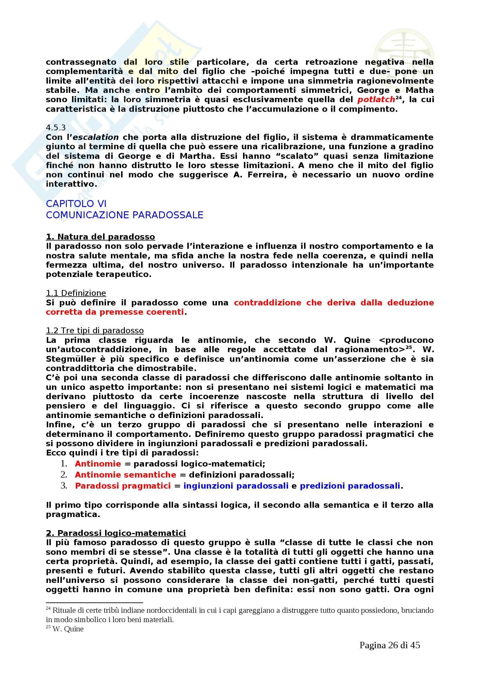 Psicologia - la pragmatica della comunicazione umana Pag. 26
