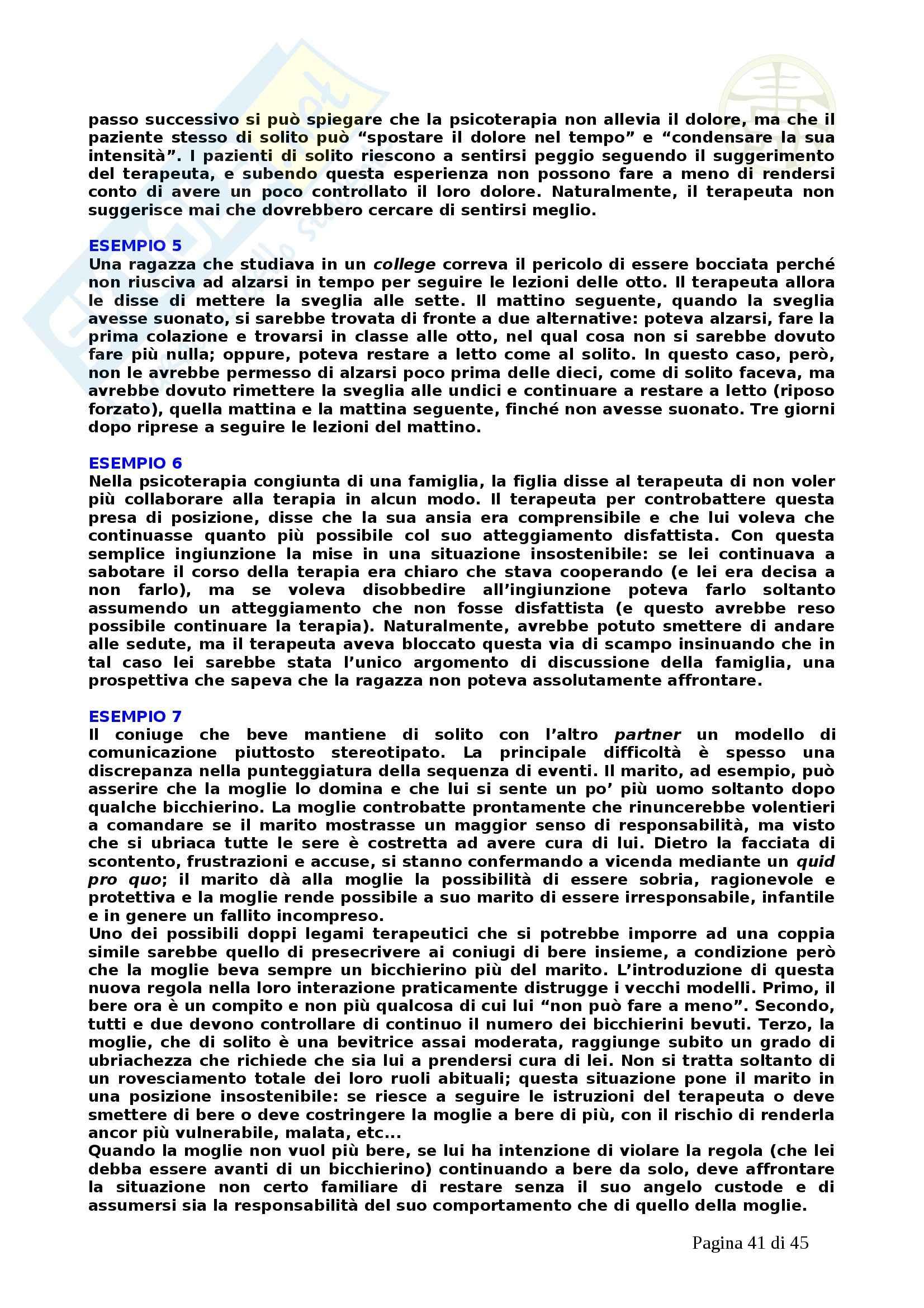 Psicologia - la pragmatica della comunicazione umana Pag. 41