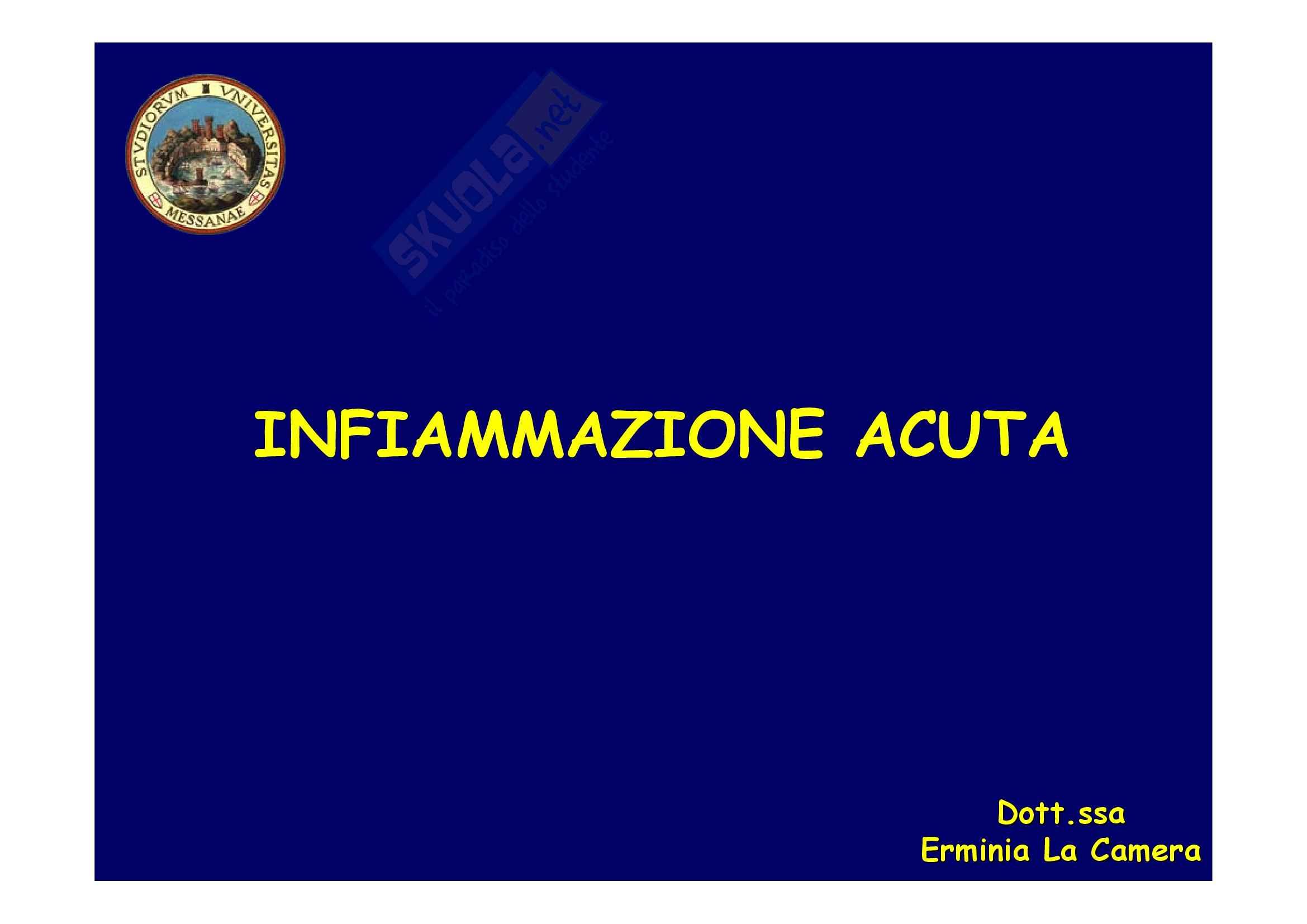 Patologia generale - infiammazione acuta