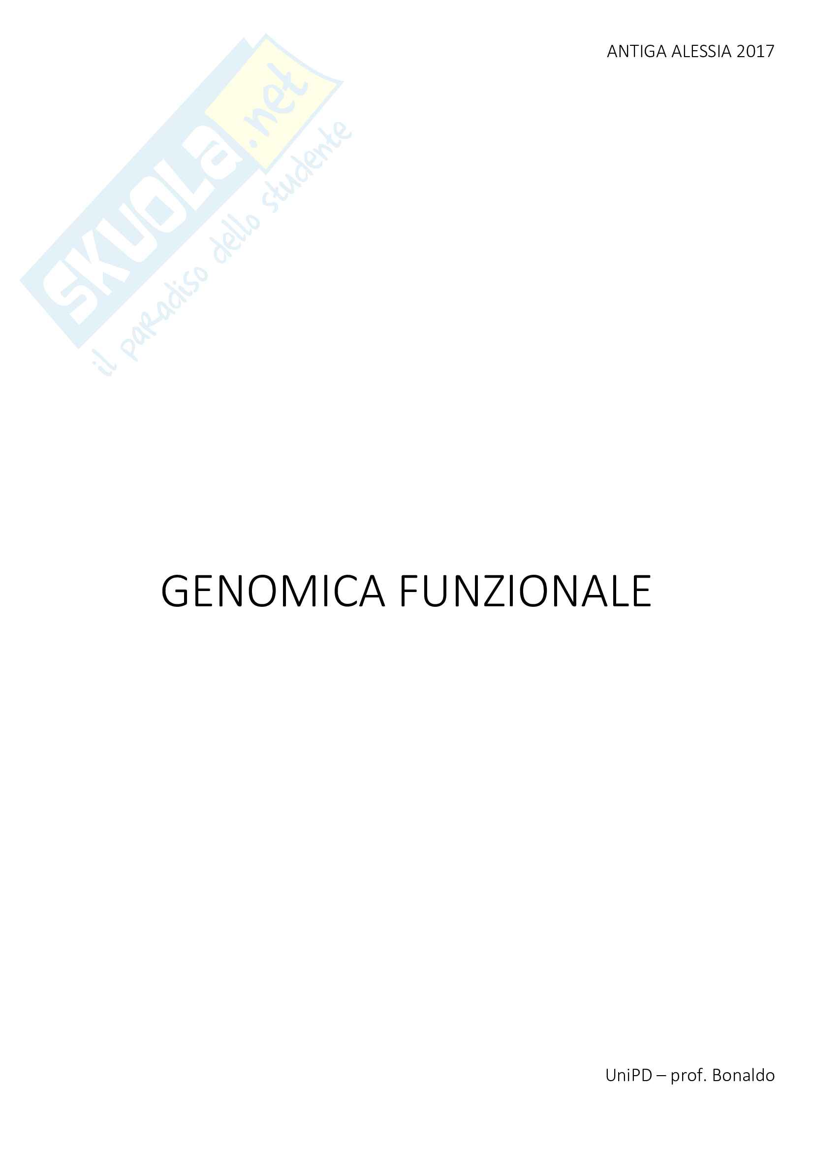 genomica funzionale - 230 pagine