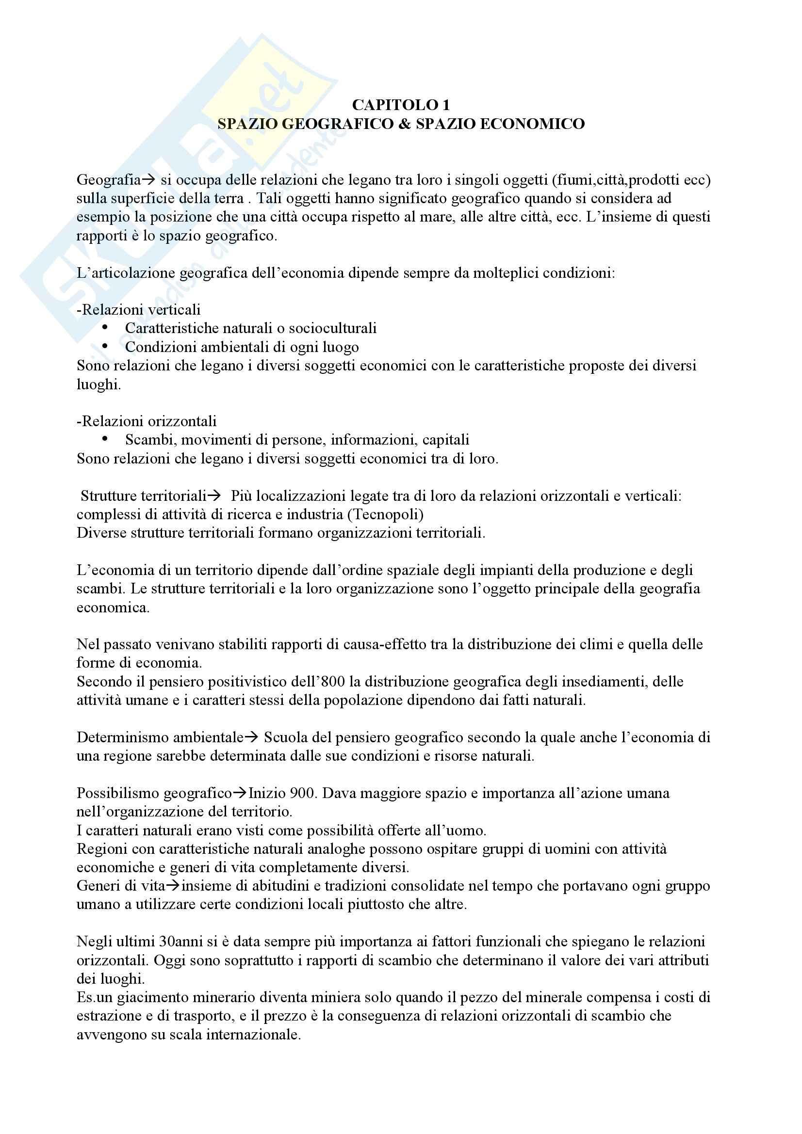 Geografia dell'economia mondiale e dell'unione europea, Conti e Bonavero - sunti, prof. Celata