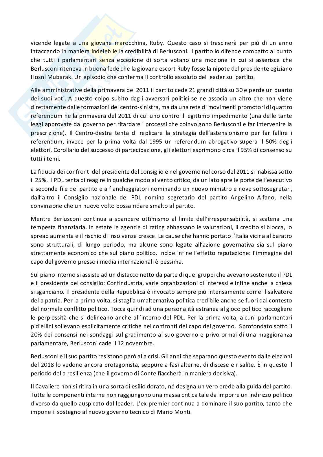 Riassunto esame Sociologia della politica, prof. Gritti, libro consigliato I partiti in italia dal 1945 al 2018, Ignazi Pag. 26