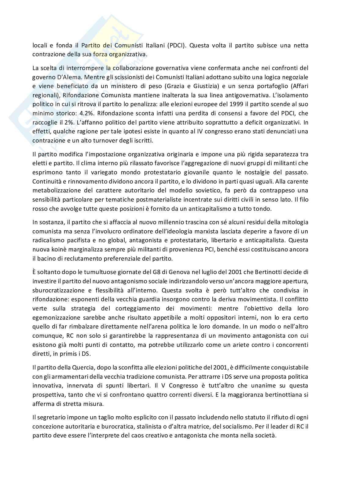 Riassunto esame Sociologia della politica, prof. Gritti, libro consigliato I partiti in italia dal 1945 al 2018, Ignazi Pag. 31