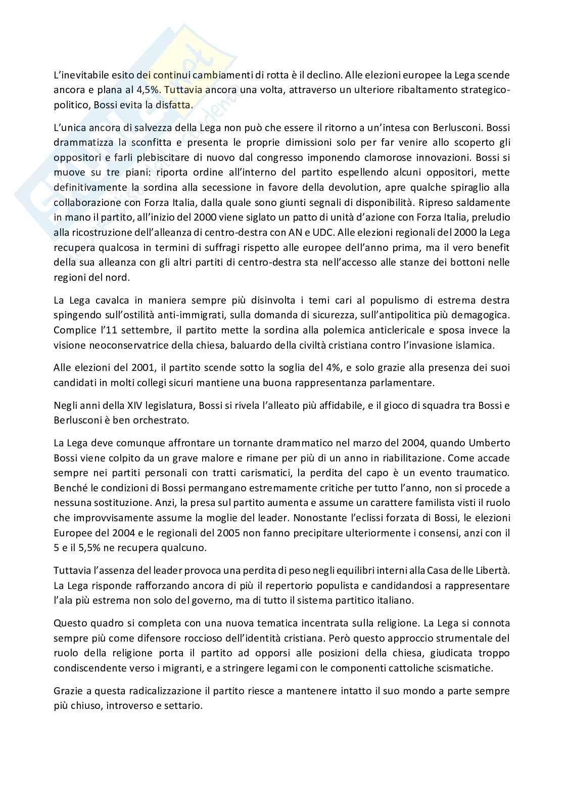 Riassunto esame Sociologia della politica, prof. Gritti, libro consigliato I partiti in italia dal 1945 al 2018, Ignazi Pag. 6