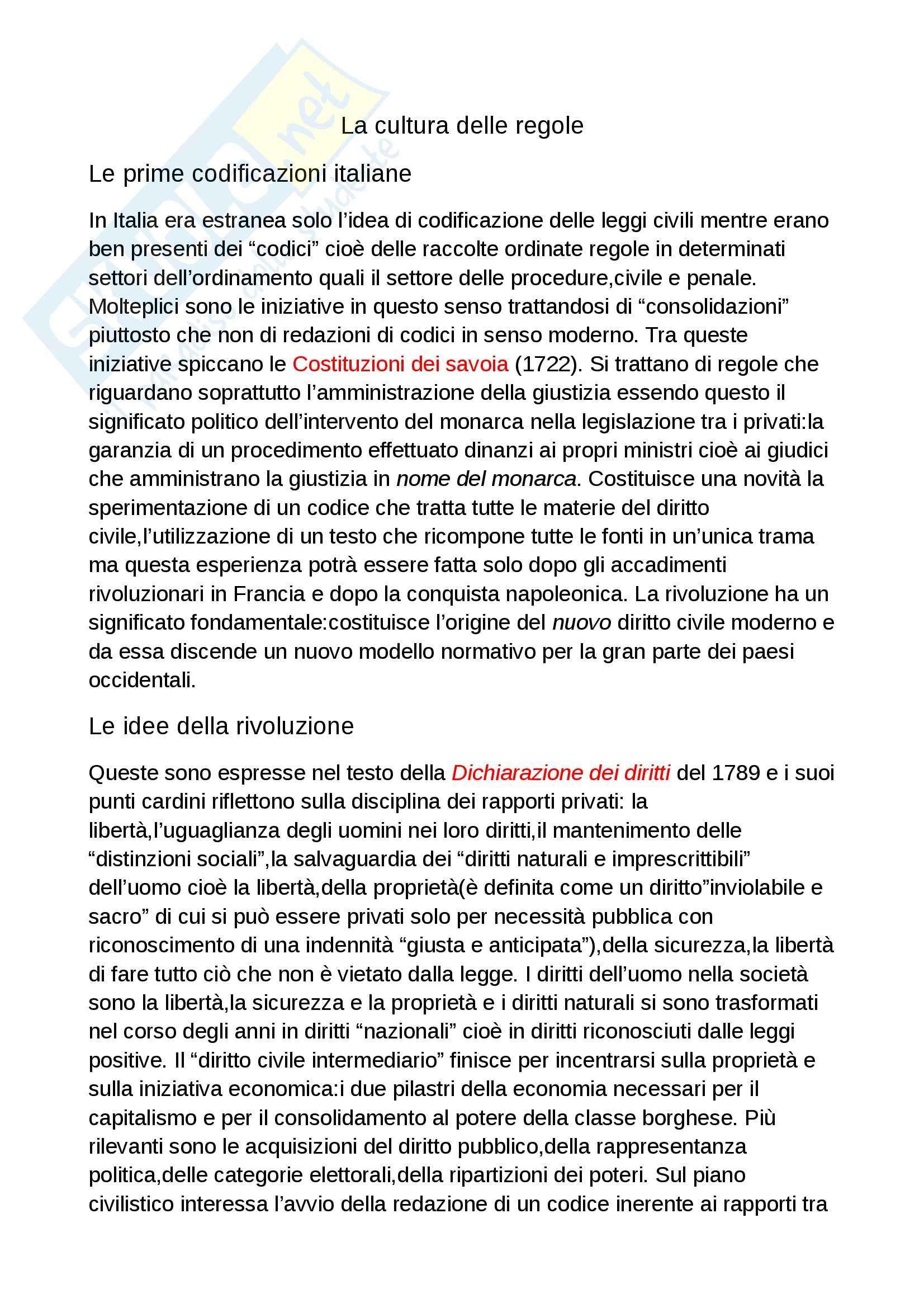 Riassunto esame Diritto civile I, prof. Alpa, libro consigliato Cultura delle regole, Alpa
