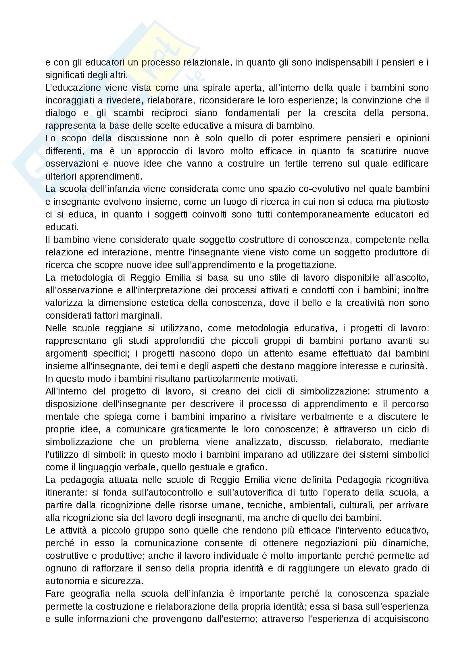 Riassunto esame Geografia, prof. Vecchio, libro consigliato Infanzia, spazio e geografia, Guaran Pag. 11