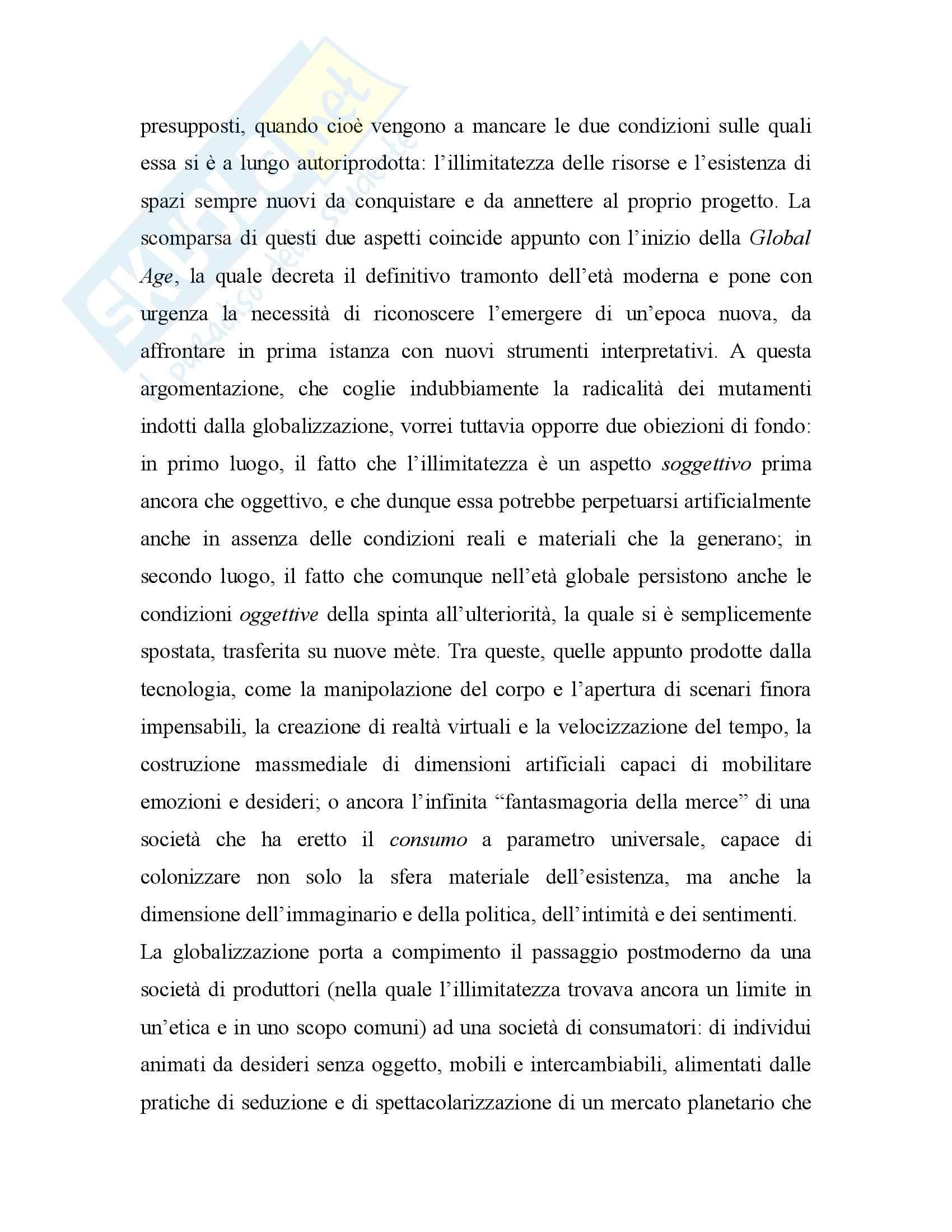 Riassunto esame Filosofia Politica, prof. Escobar, libro consigliato Metamorfosi della Paura Pag. 11