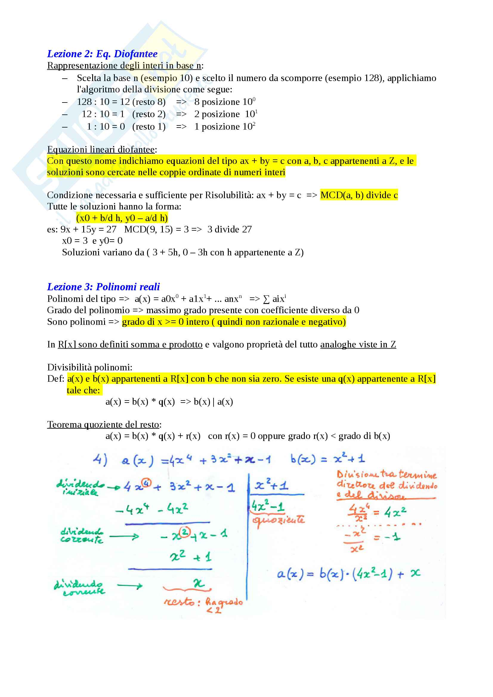Matematica Discreta - Algebra Pag. 2