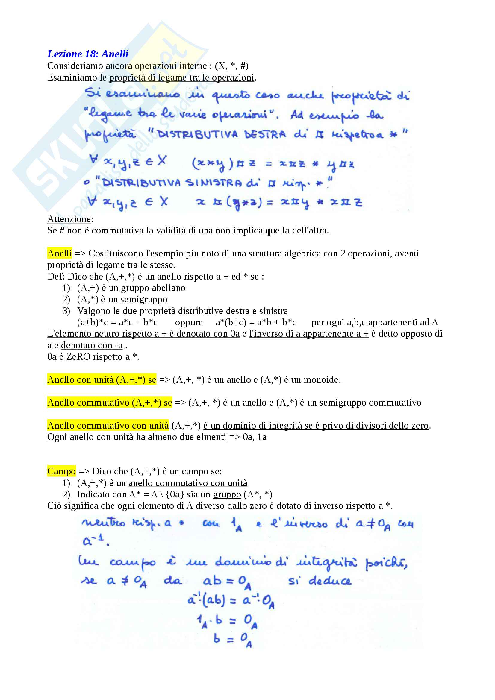 Matematica Discreta - Algebra Pag. 26