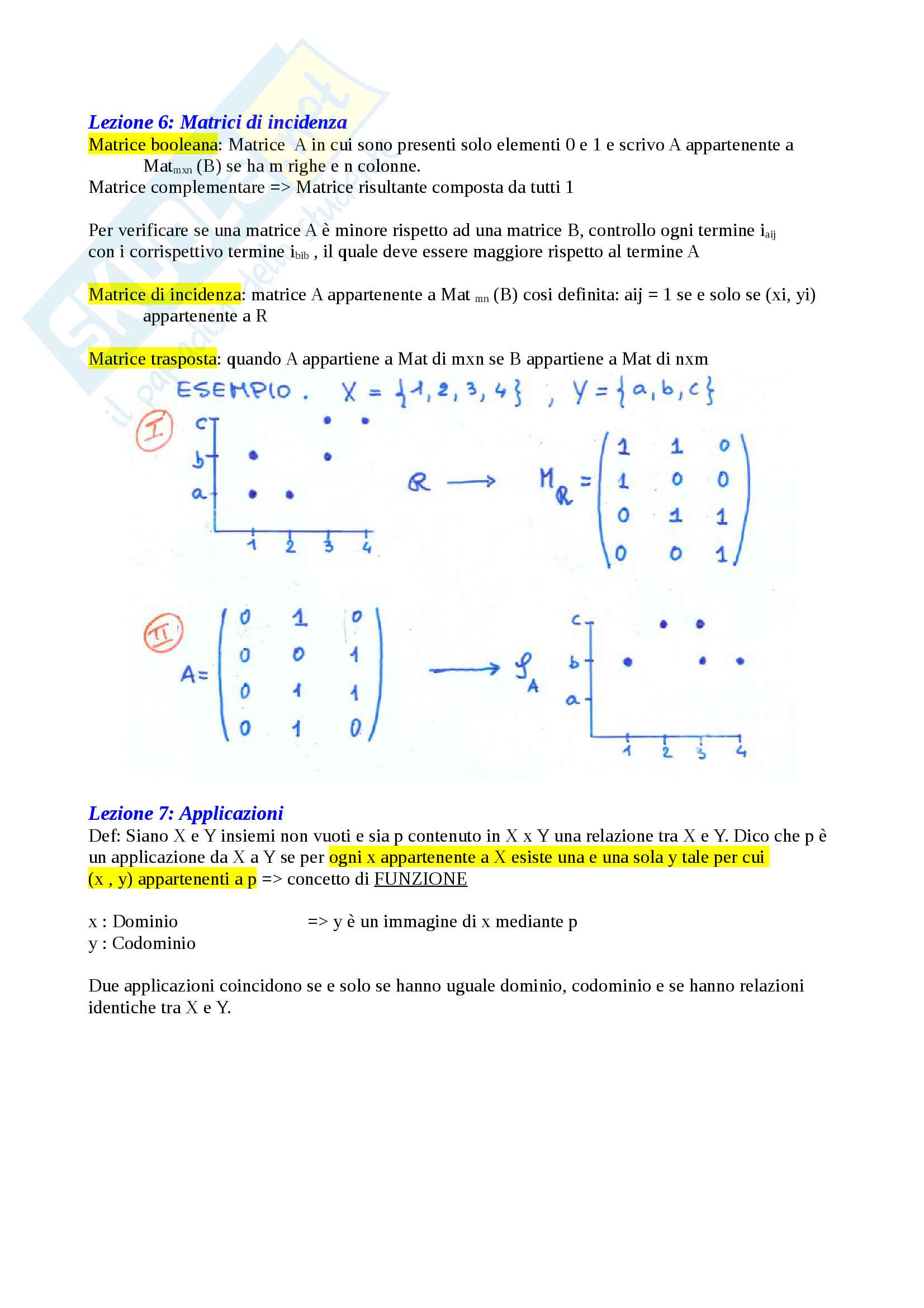 Matematica Discreta - Algebra Pag. 6