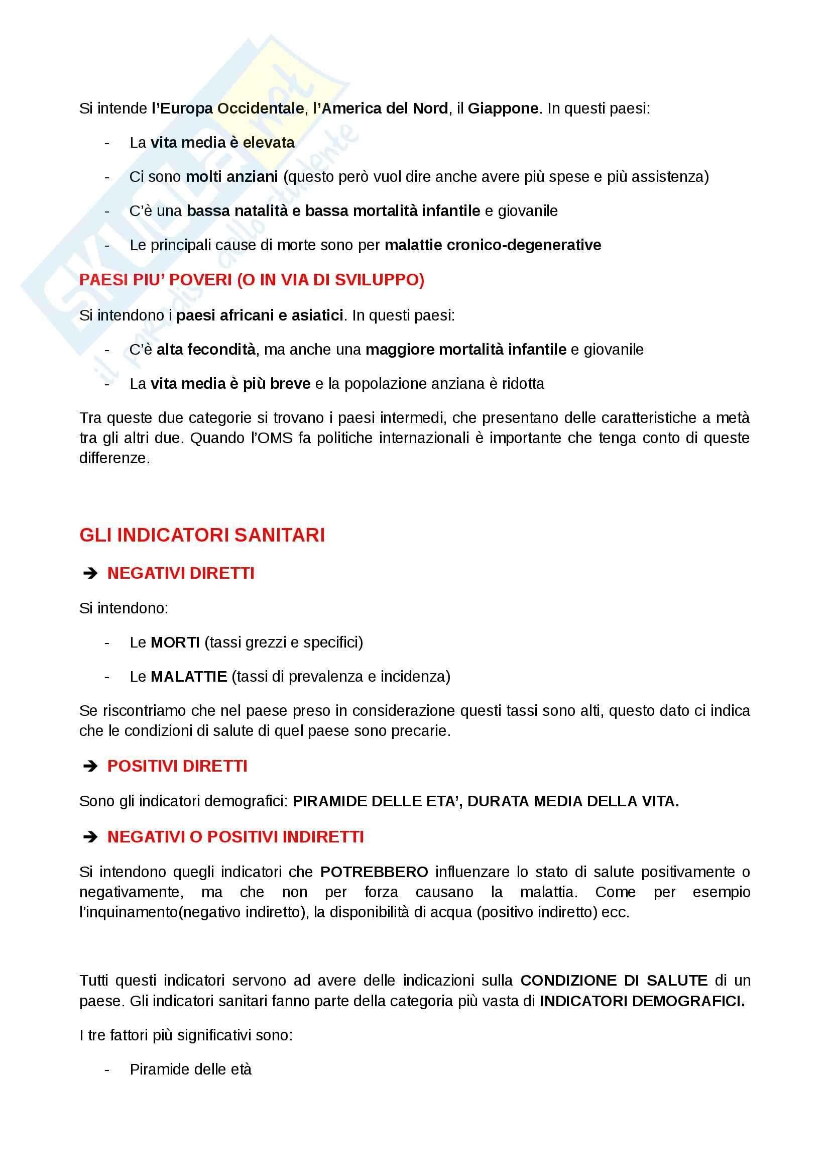Igiene e sanità pubblica per le scienze motorie  - Appunti Pag. 11