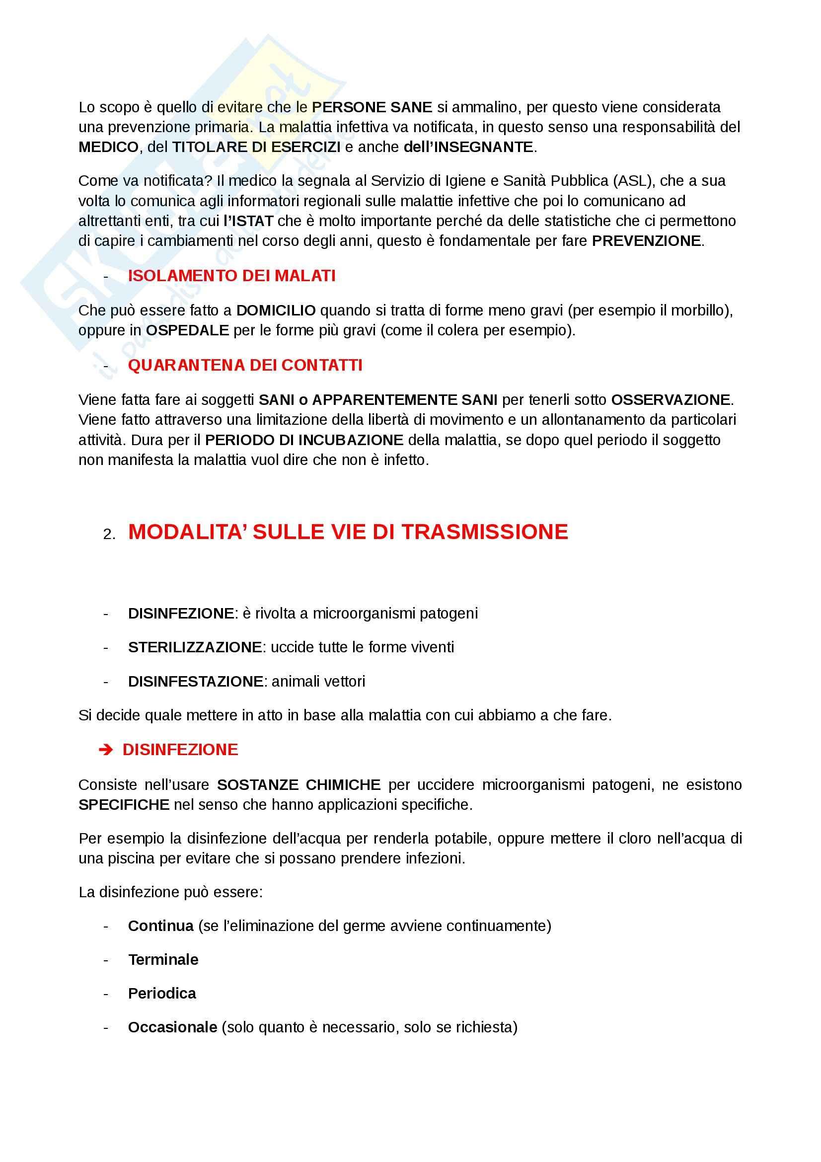 Igiene e sanità pubblica per le scienze motorie  - Appunti Pag. 36