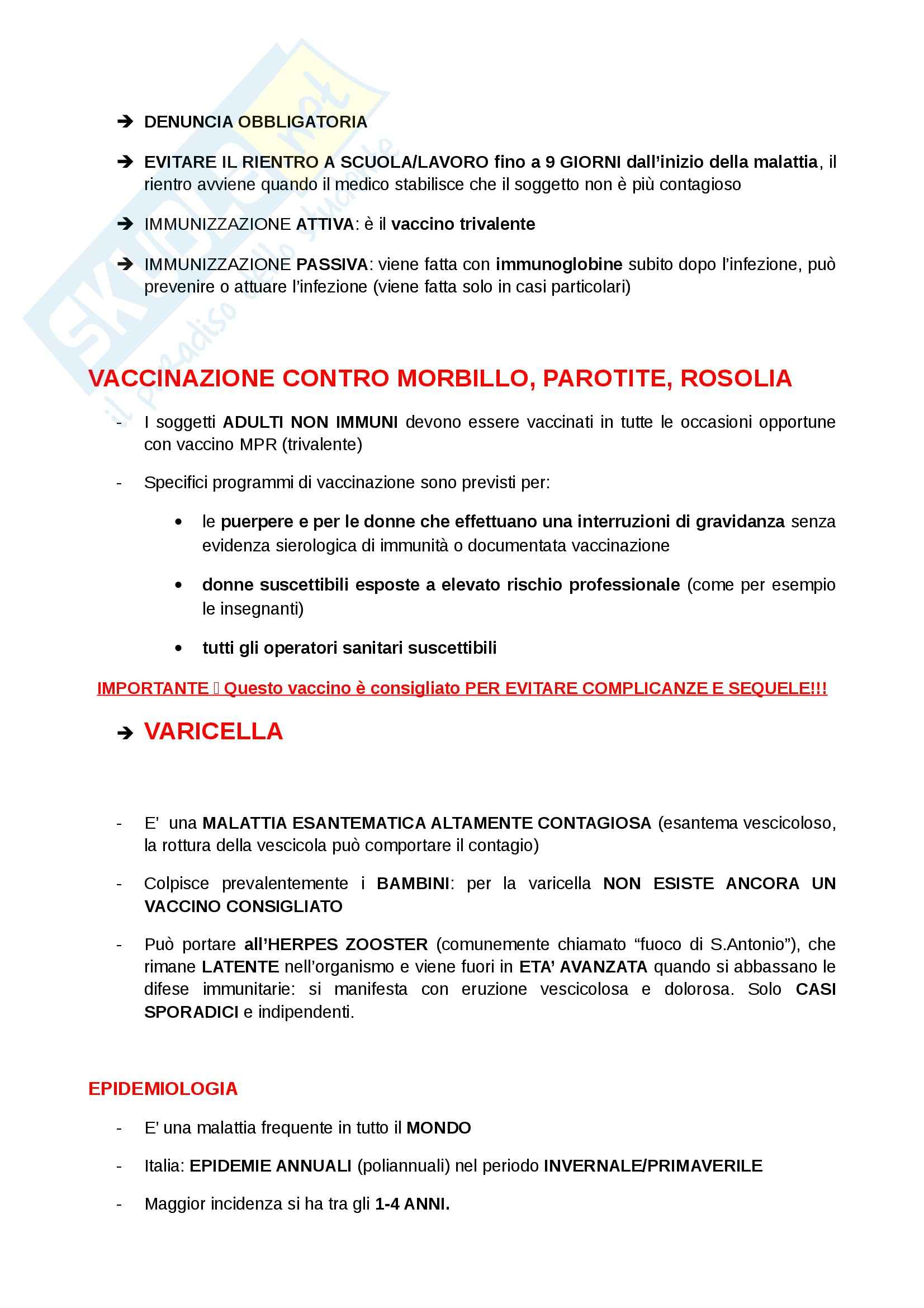 Igiene e sanità pubblica per le scienze motorie  - Appunti Pag. 51