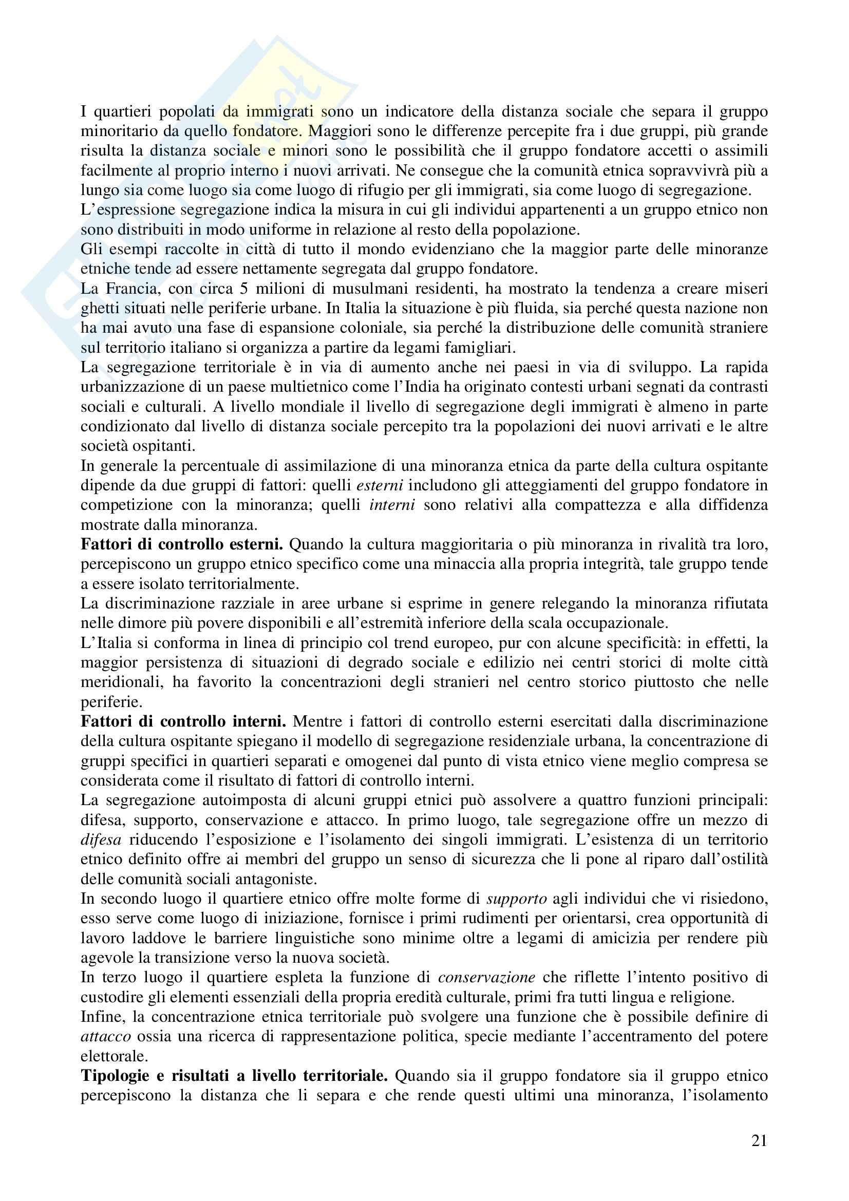 Riassunto esame Metodologia della Ricerca Geografica, prof. Trischitta, libro consigliato Geografia Umana, Fellman, Getis, Getis Pag. 21