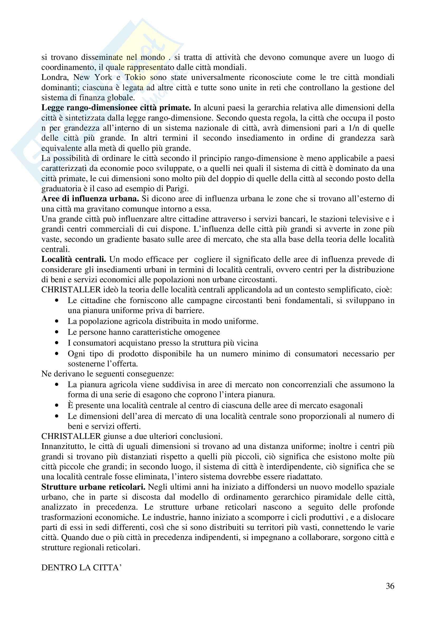 Riassunto esame Metodologia della Ricerca Geografica, prof. Trischitta, libro consigliato Geografia Umana, Fellman, Getis, Getis Pag. 36