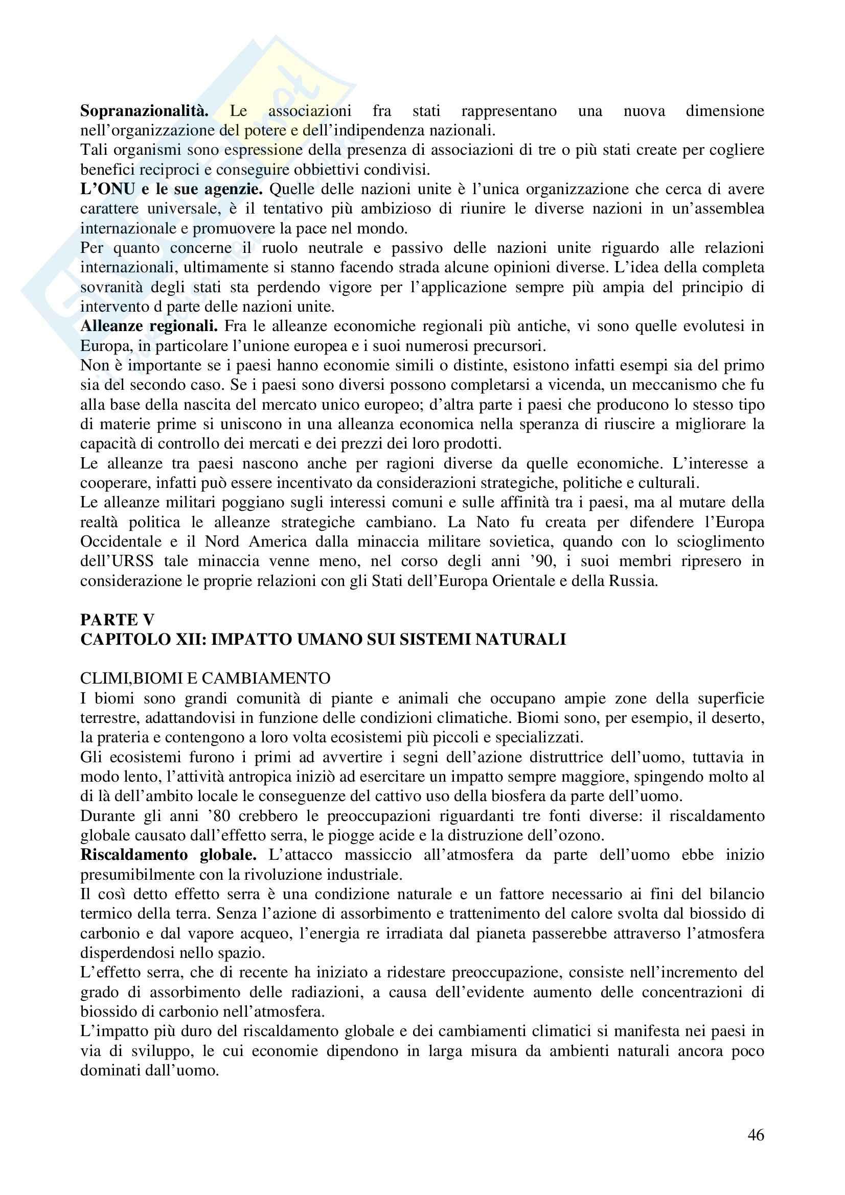 Riassunto esame Metodologia della Ricerca Geografica, prof. Trischitta, libro consigliato Geografia Umana, Fellman, Getis, Getis Pag. 46