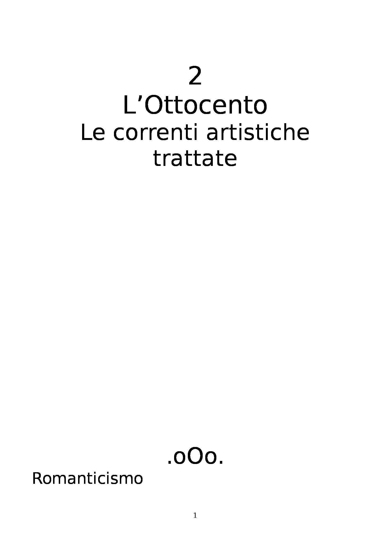 appunto A. Del Guercio Storia dell'arte contemporanea