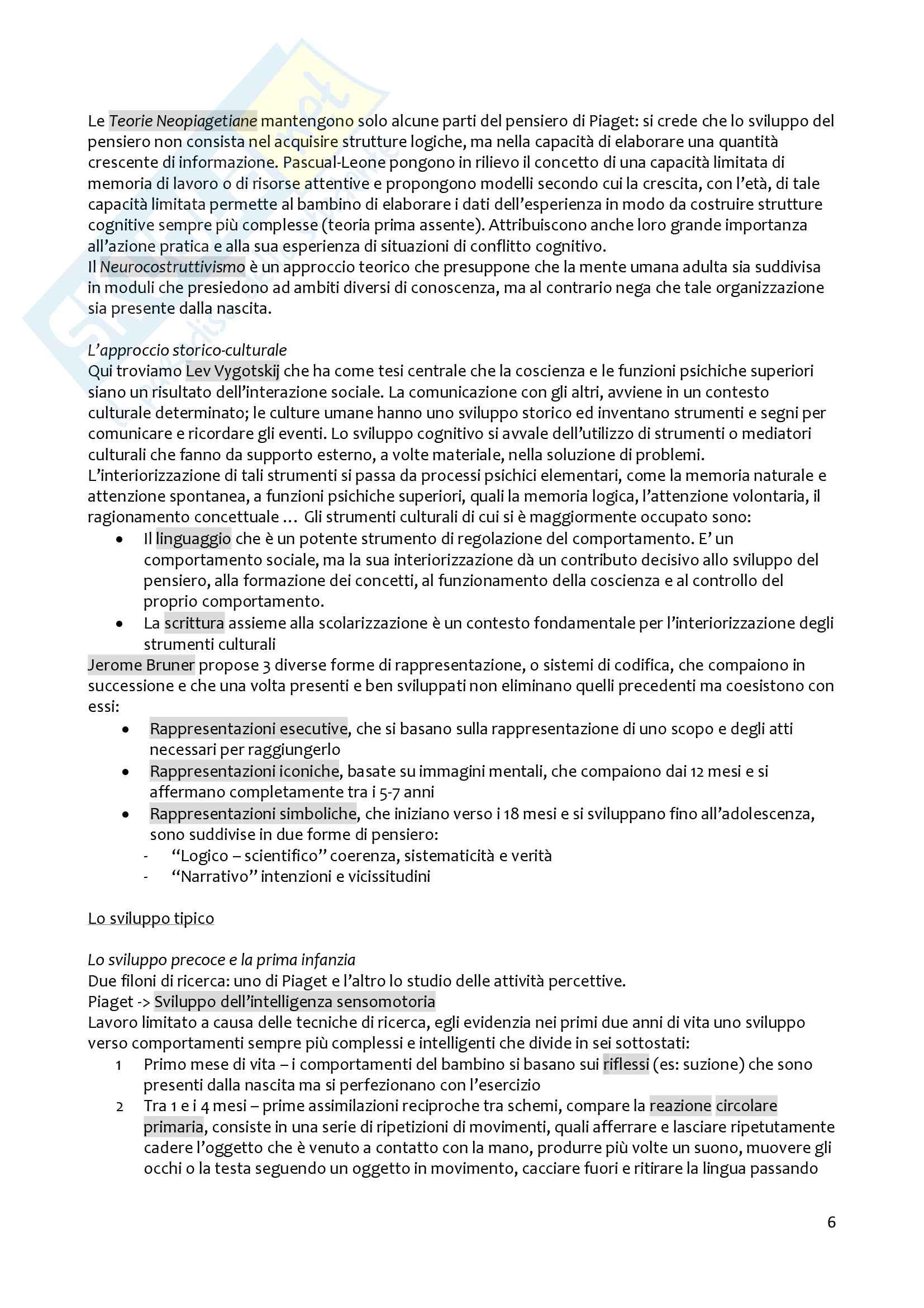 Riassunto esame Psicologia dello sviluppo, prof. Raccanello, libro consigliato Manuale di Psicologia dello Sviluppo, Barone L. (2009) Pag. 6