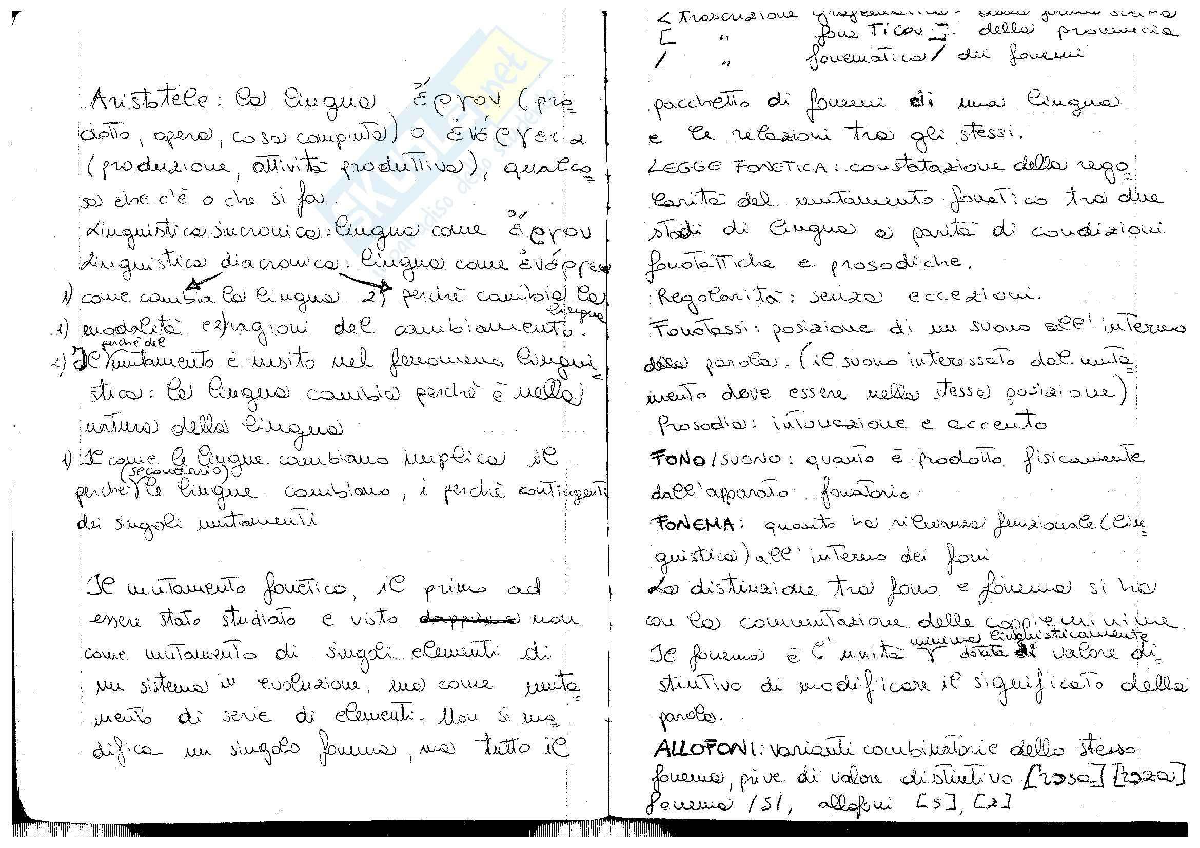 Fonetica: mutamento fonetico, legge fonetica, fono, fonema, allofono