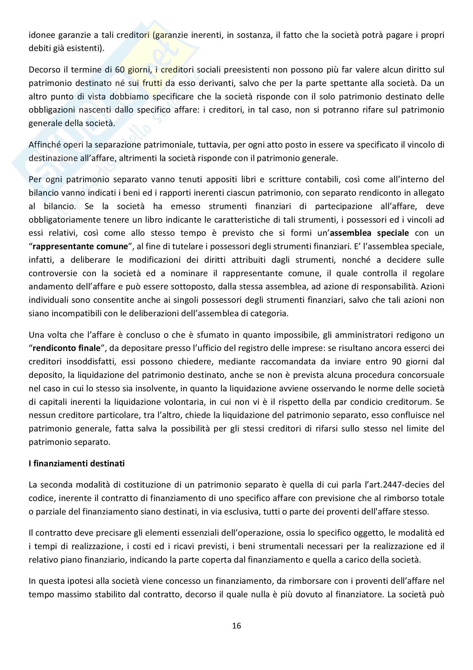 Riassunto esame Diritto Commerciale, prof. Patroni, libro consigliato di Campobasso Pag. 16