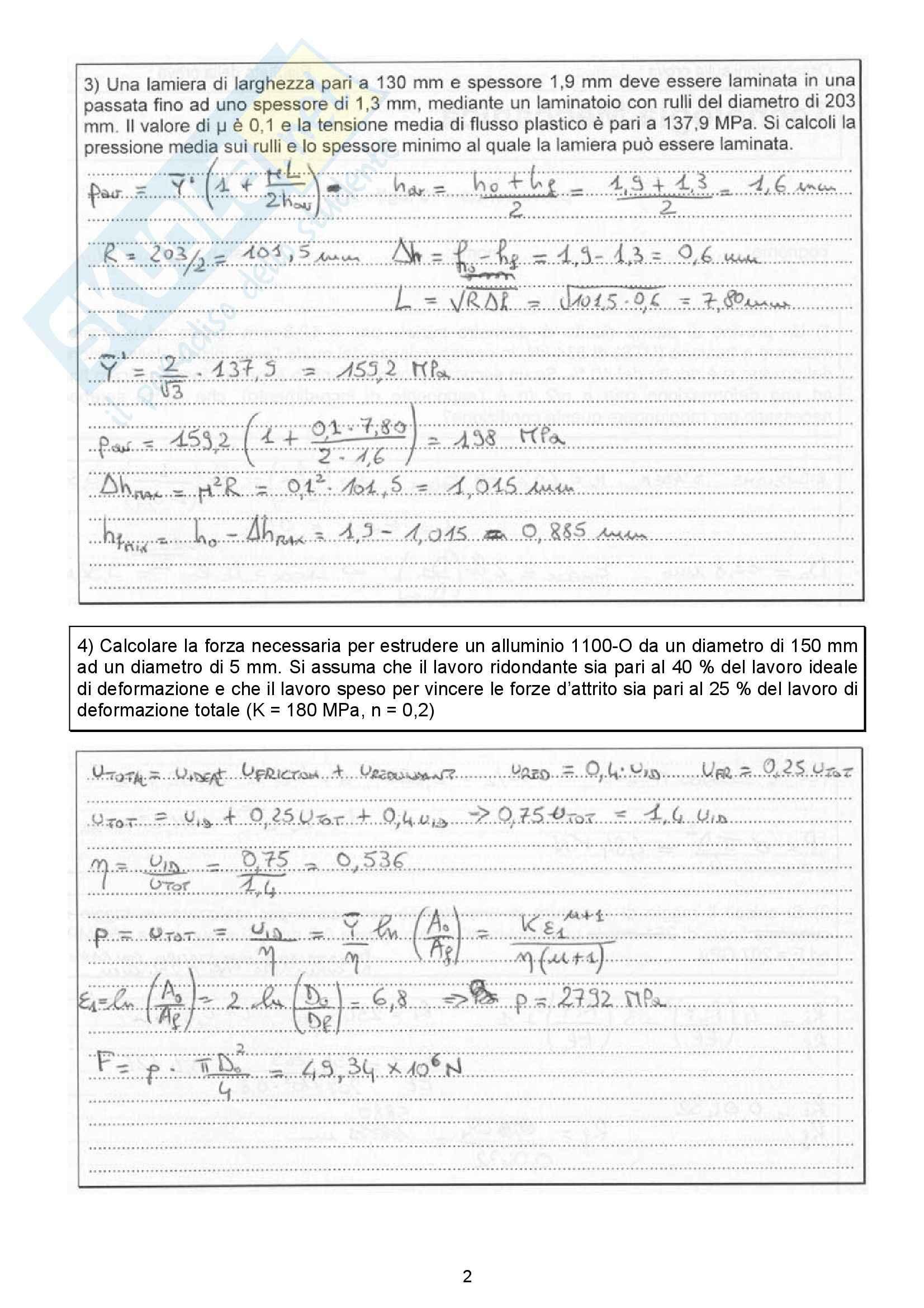 Esercizi svolti, Tecnologia Meccanica Pag. 6