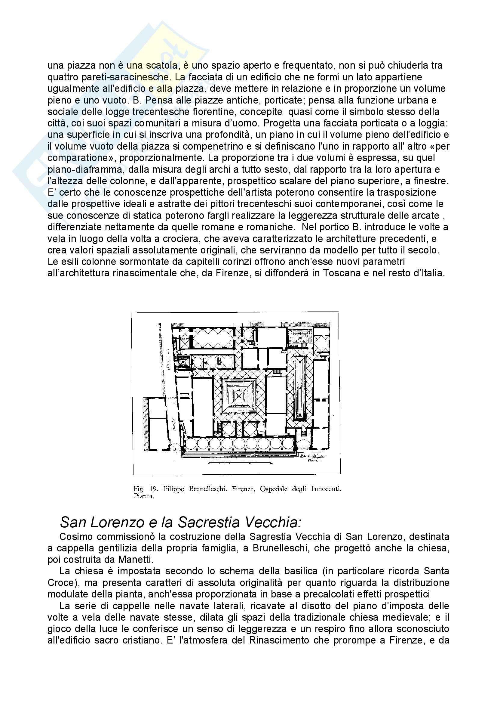 Storia dell'architettura moderna - la cupola del Brunelleschi - Appunti Pag. 2