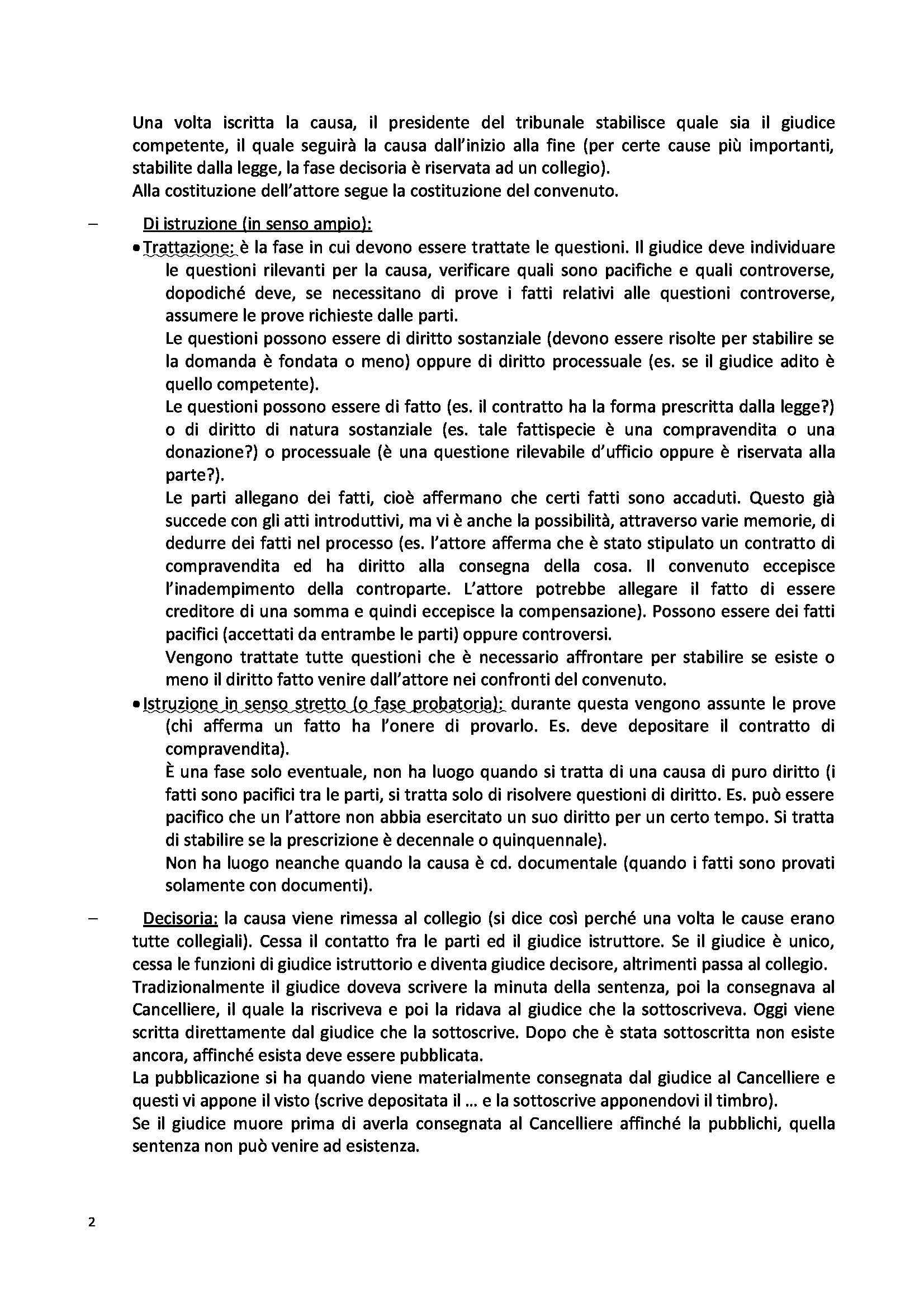 Riassunto esame Diritto Processuale Civile, prof. Giacomelli, libro consigliato Consolidazione diritto procedura civile I 2013 Pag. 2