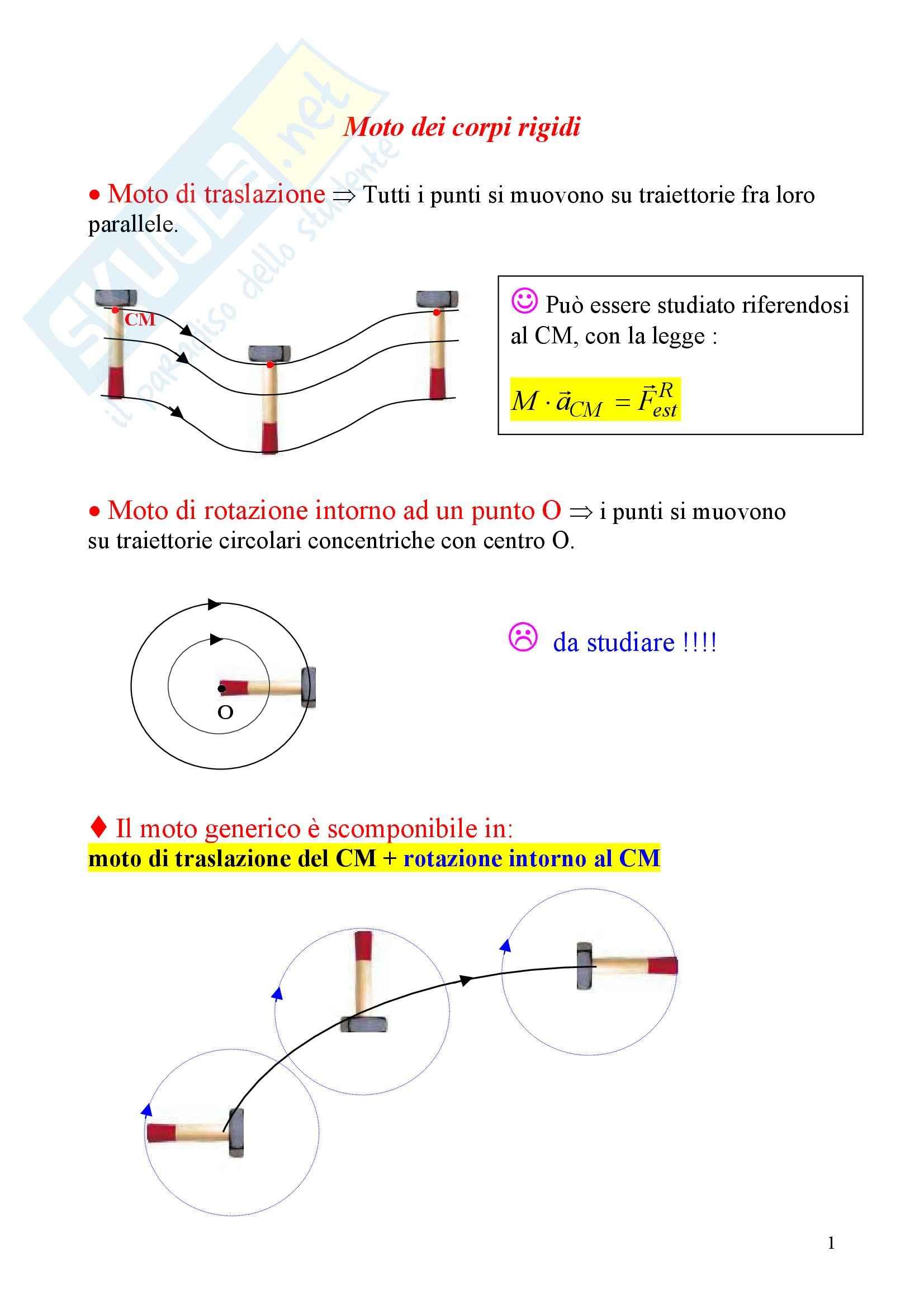 Fisica statistica ed informatica – Moto dei corpi rigidi