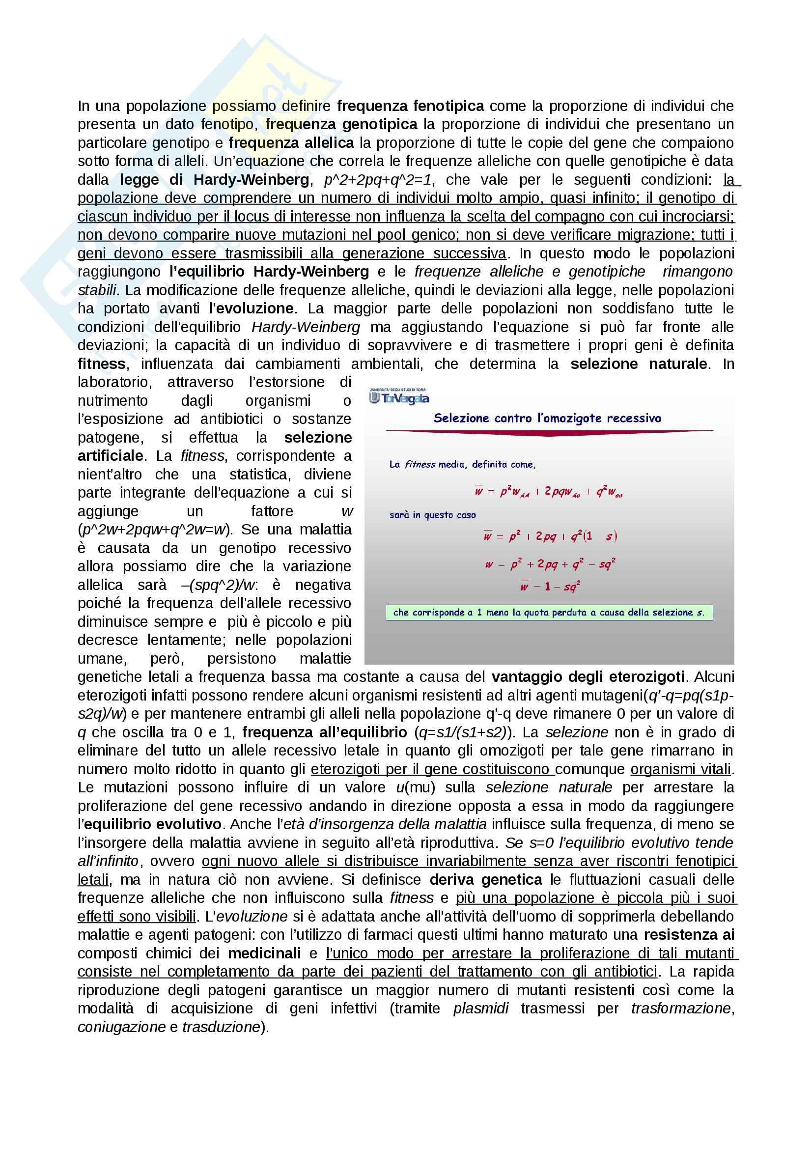 Genetica e basi di genomica Pag. 11
