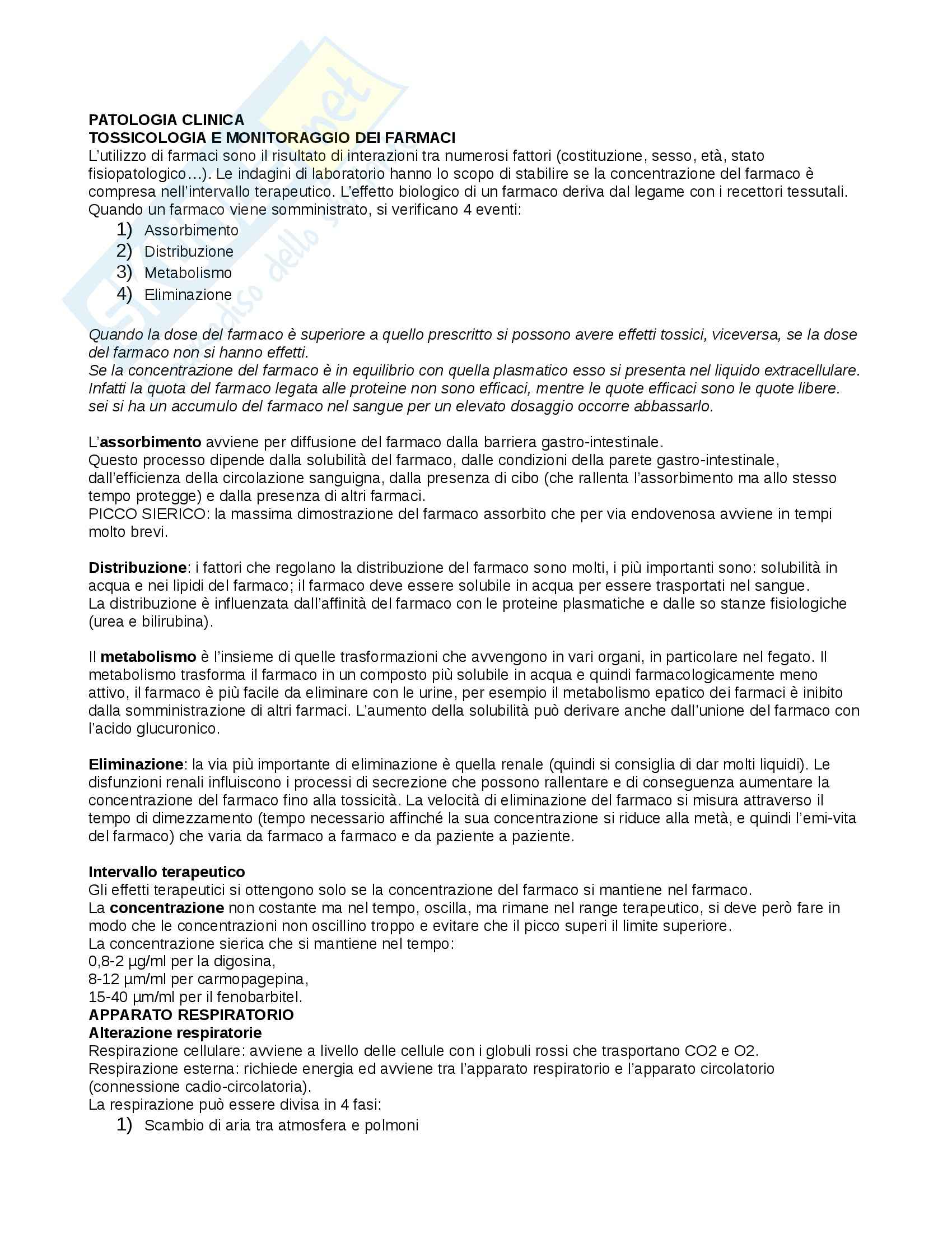 Patologia generale e fisiopatologia - patologia clinica
