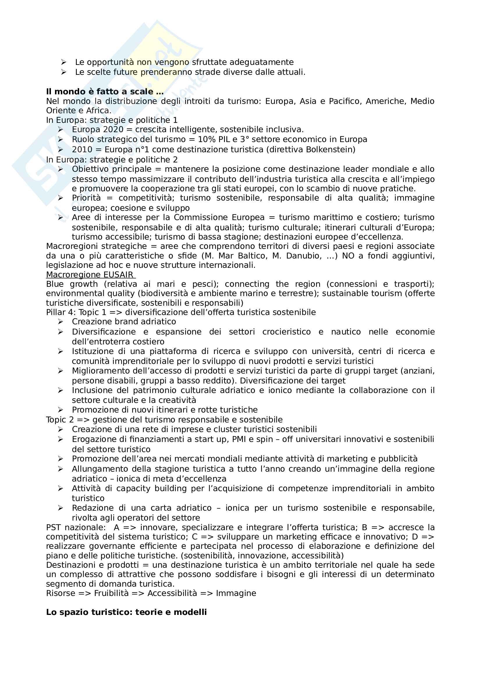 Geografia del turismo sostenibile Pag. 6