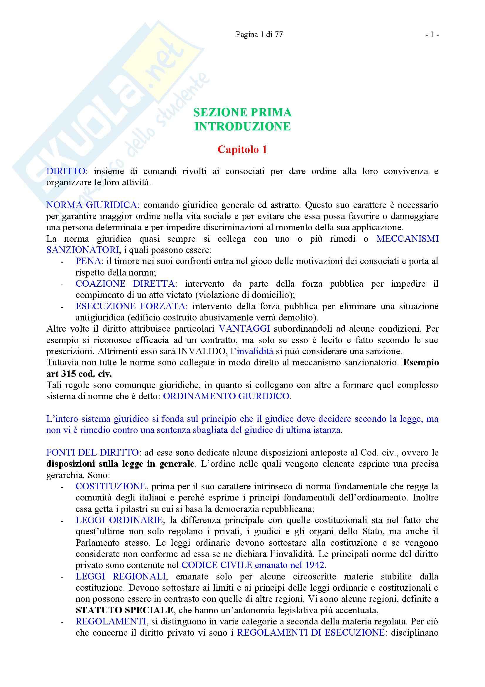 Riassunto esame Diritto Privato, prof. Caricato, libro consigliato Diritto Privato, Trimarchi