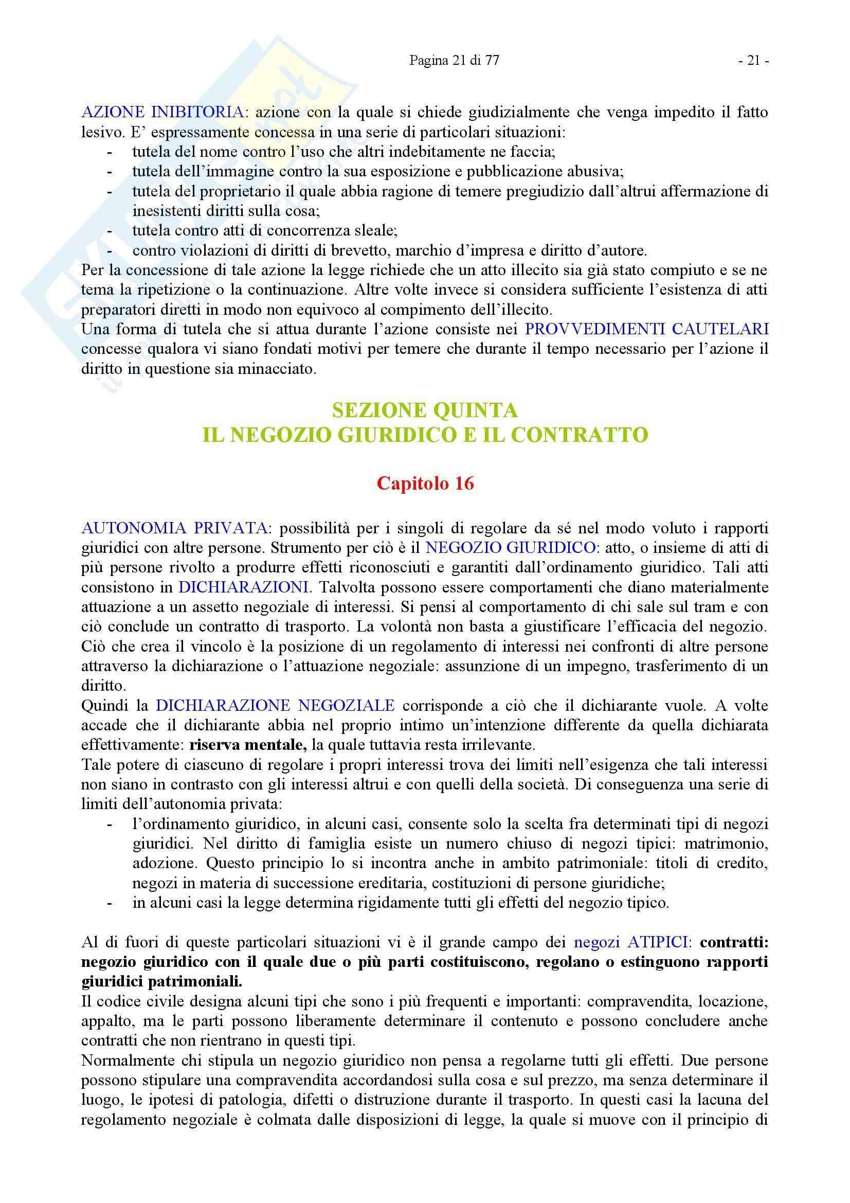 Riassunto esame Diritto Privato, prof. Caricato, libro consigliato Diritto Privato, Trimarchi Pag. 21