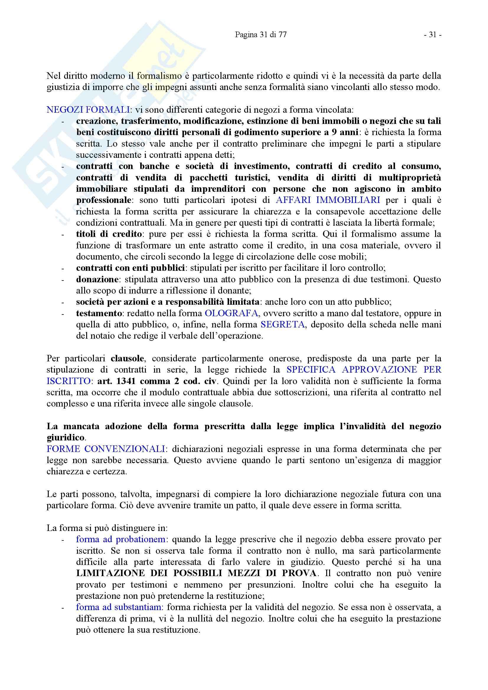 Riassunto esame Diritto Privato, prof. Caricato, libro consigliato Diritto Privato, Trimarchi Pag. 31
